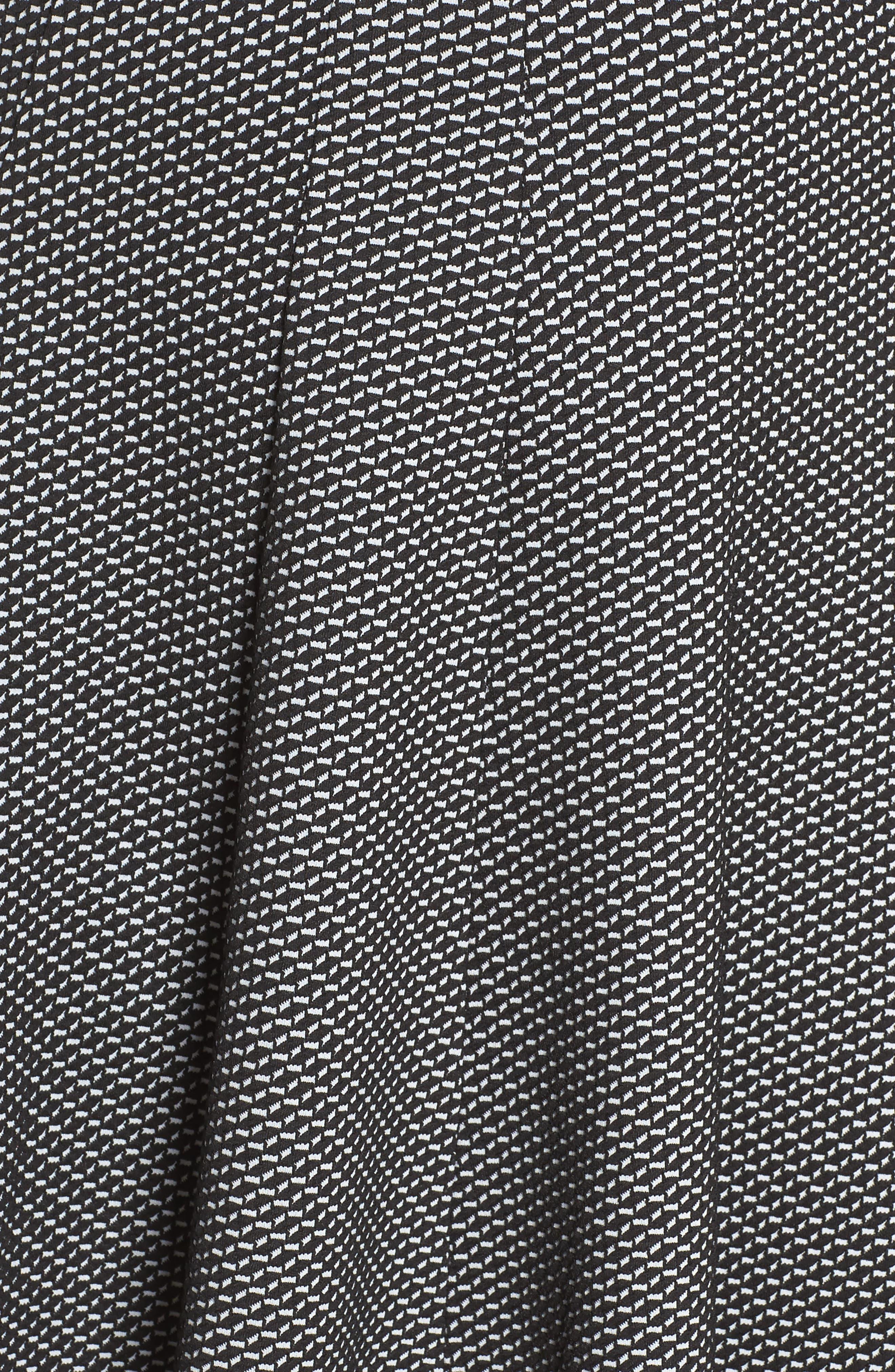 Alternate Image 5  - Gabby Skye Jacquard Fit & Flare Dress (Plus Size)