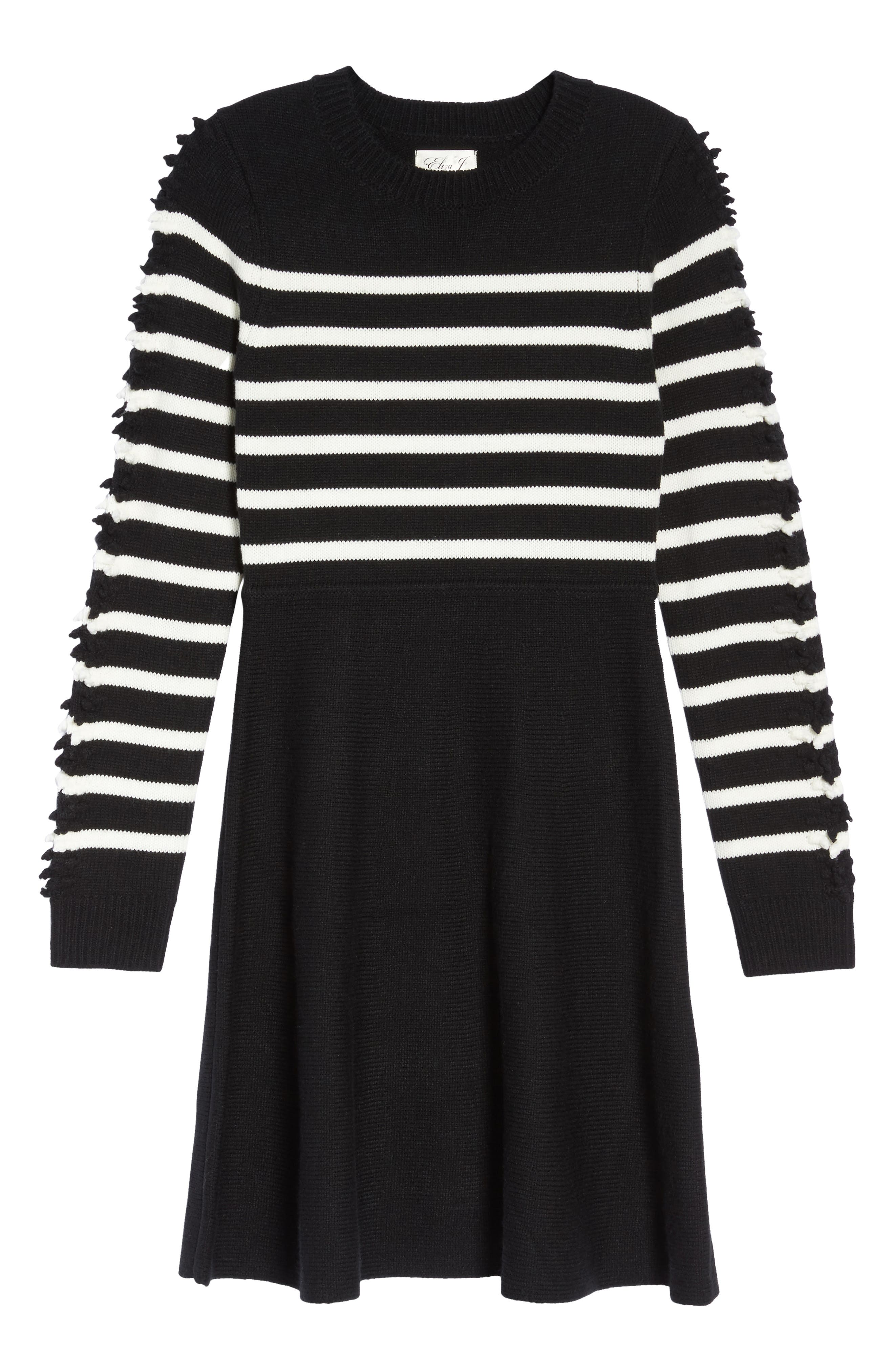 Alternate Image 6  - Eliza J Fit & Flare Sweater Dress (Regular & Petite)