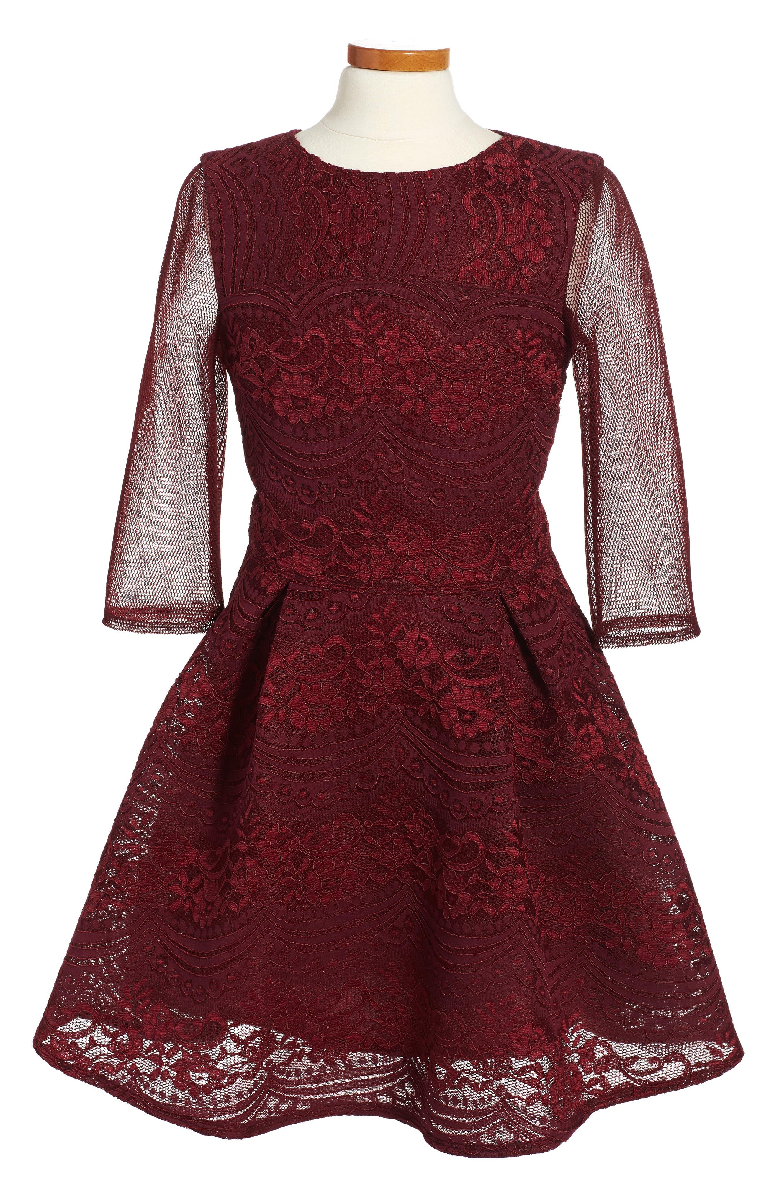 David Charles Techno Lace Dress (Big Girls)