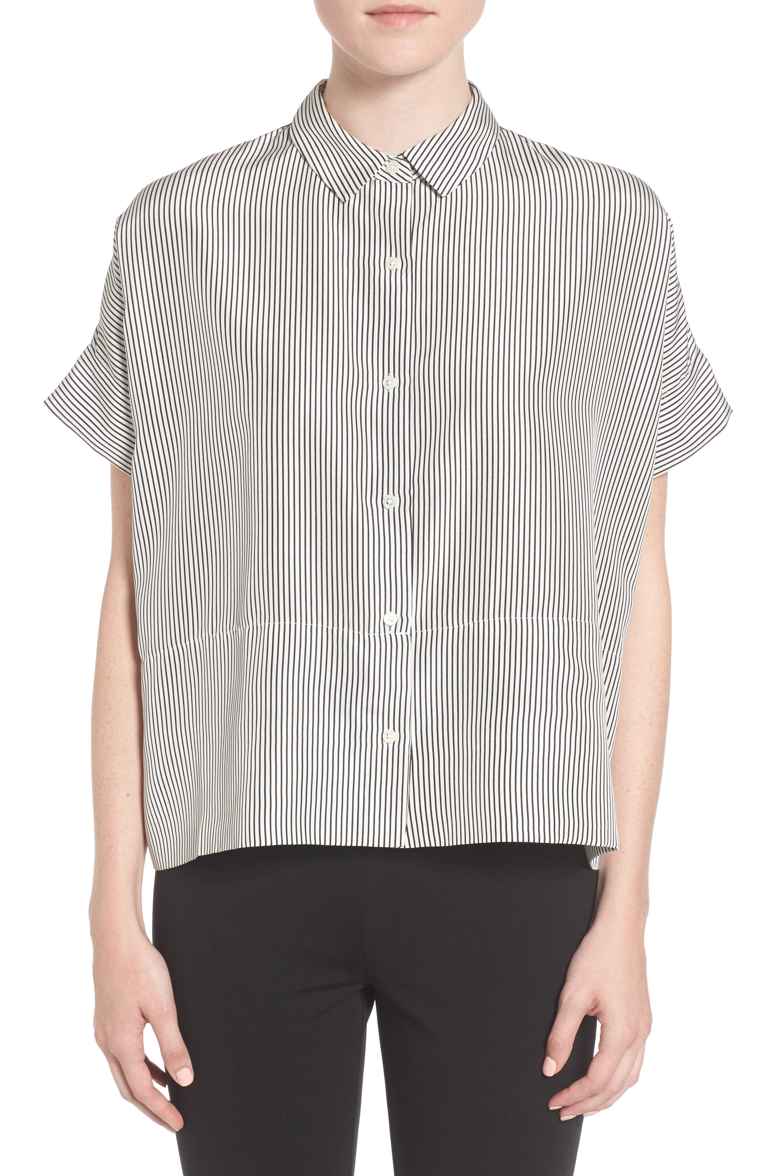 Alternate Image 1 Selected - Everlane The Silk Short Sleeve Square Shirt