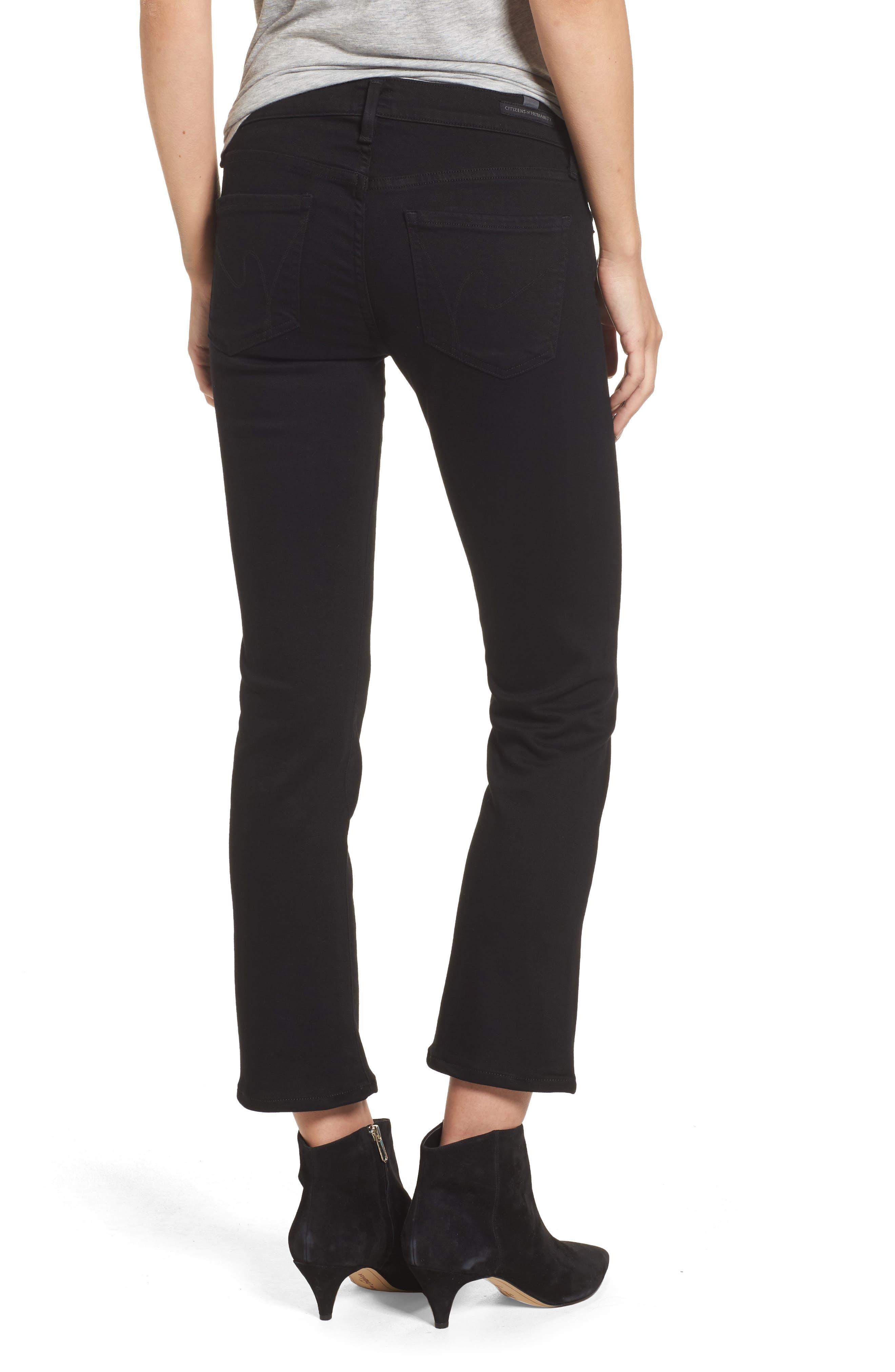 Emmanuelle Crop Slim Bootcut Jeans,                             Alternate thumbnail 2, color,                             Tuxedo