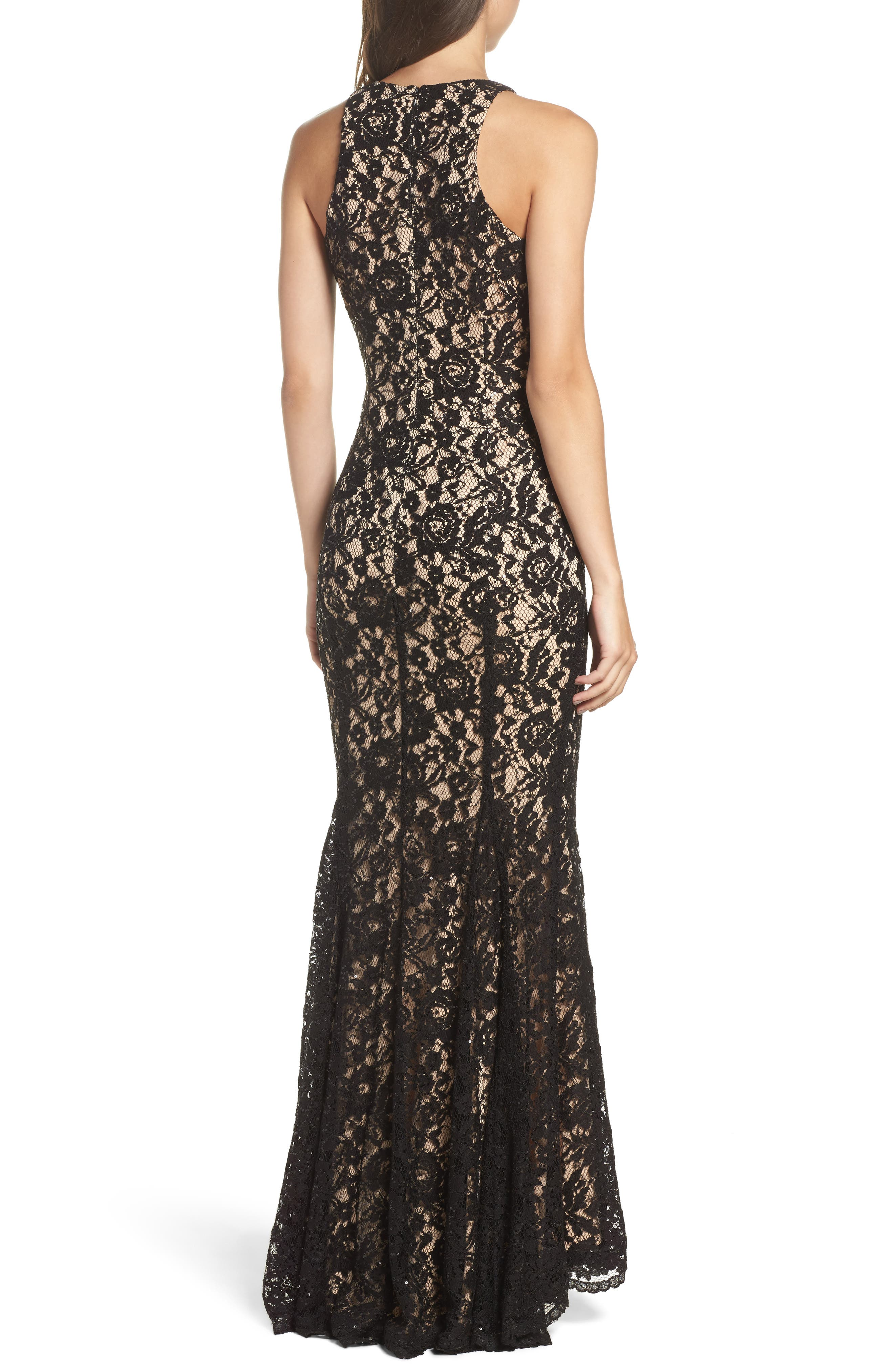 Alternate Image 2  - Vince Camuto Sequin Lace Body-Con Gown