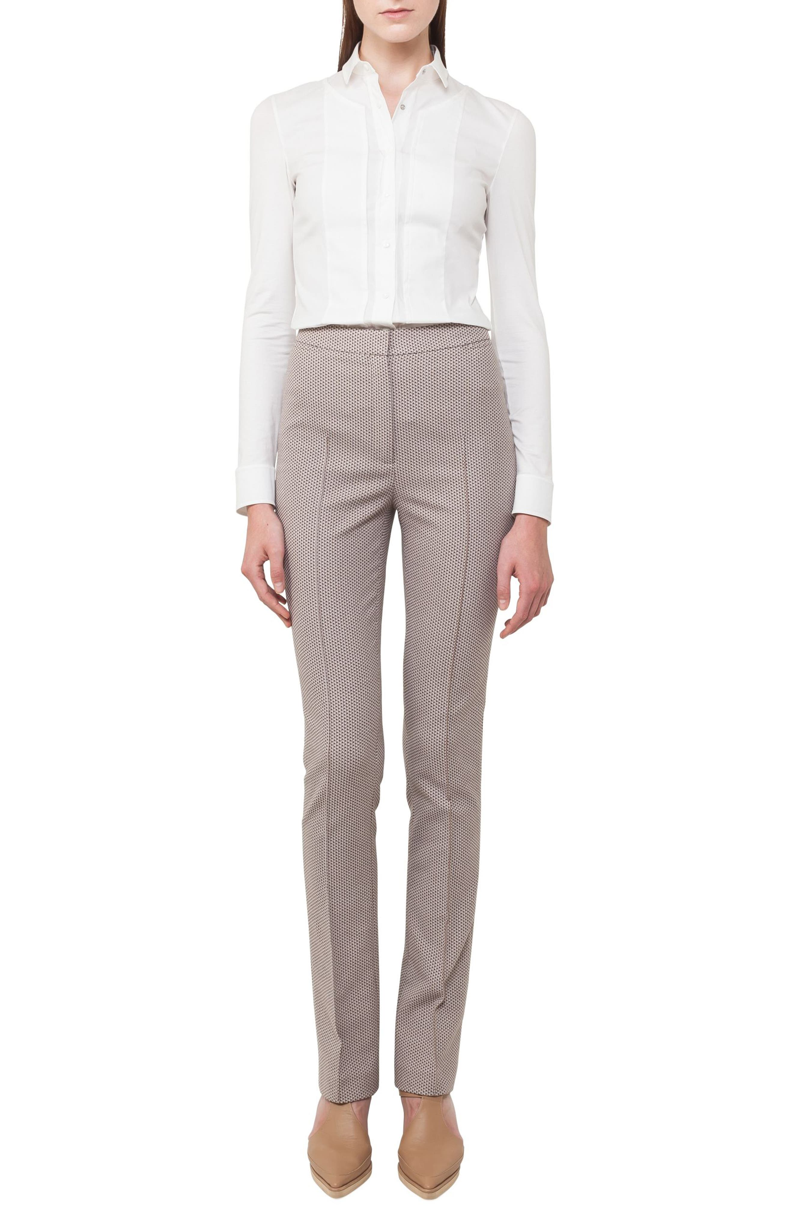 Akris punto Claire Stretch Cotton Pants