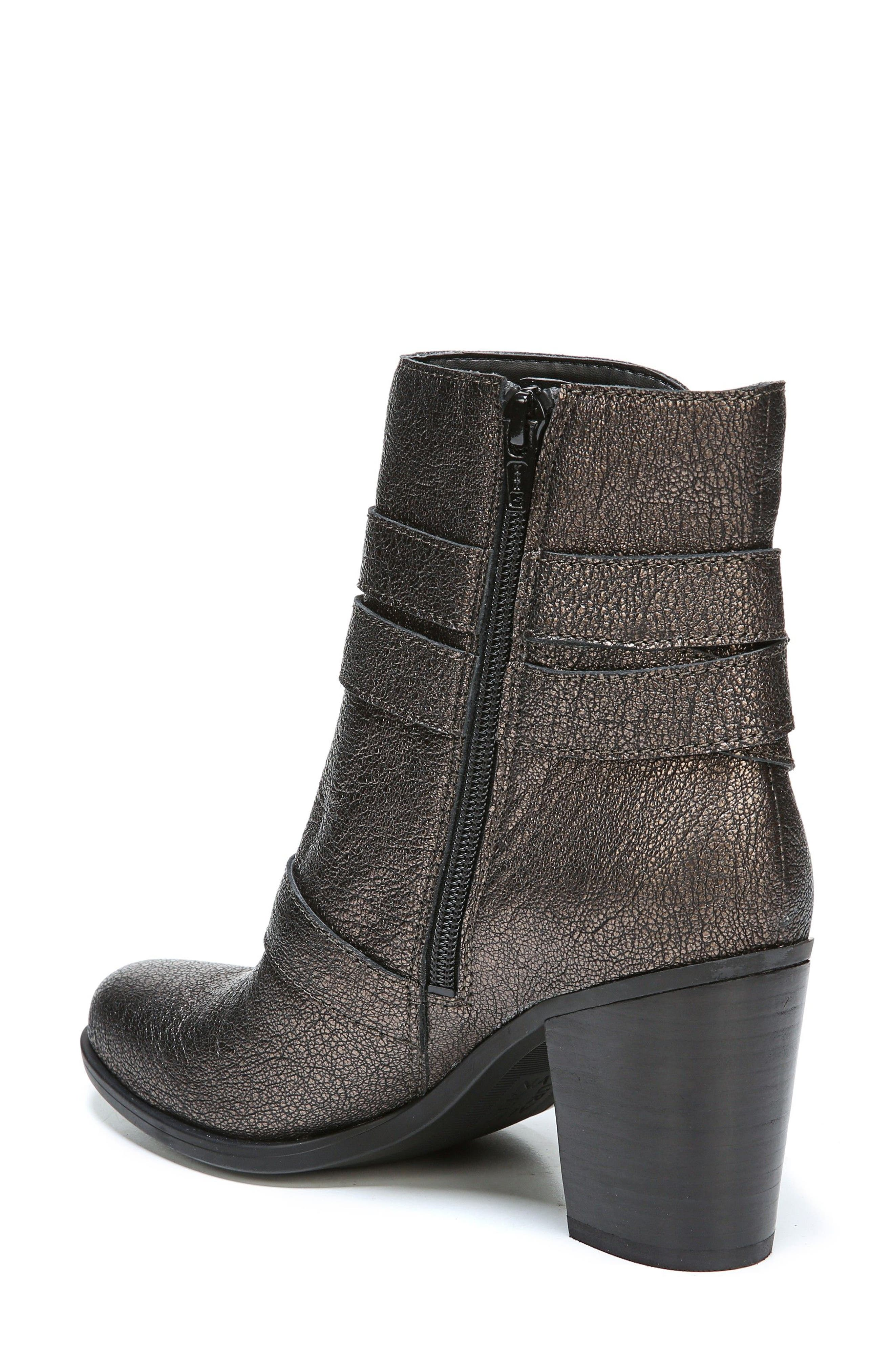 Karlie Buckle Bootie,                             Alternate thumbnail 2, color,                             Bronze Leather