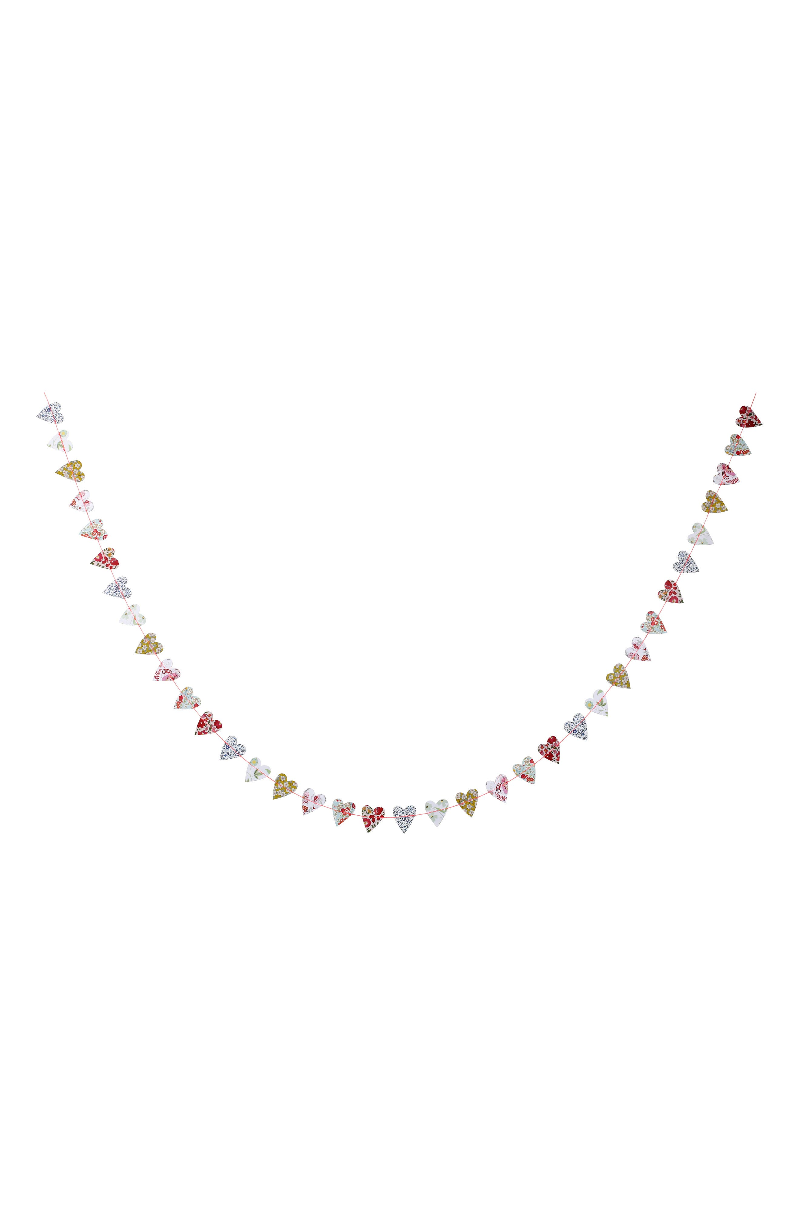x Liberty Heart Mini Garland,                         Main,                         color, White Multi
