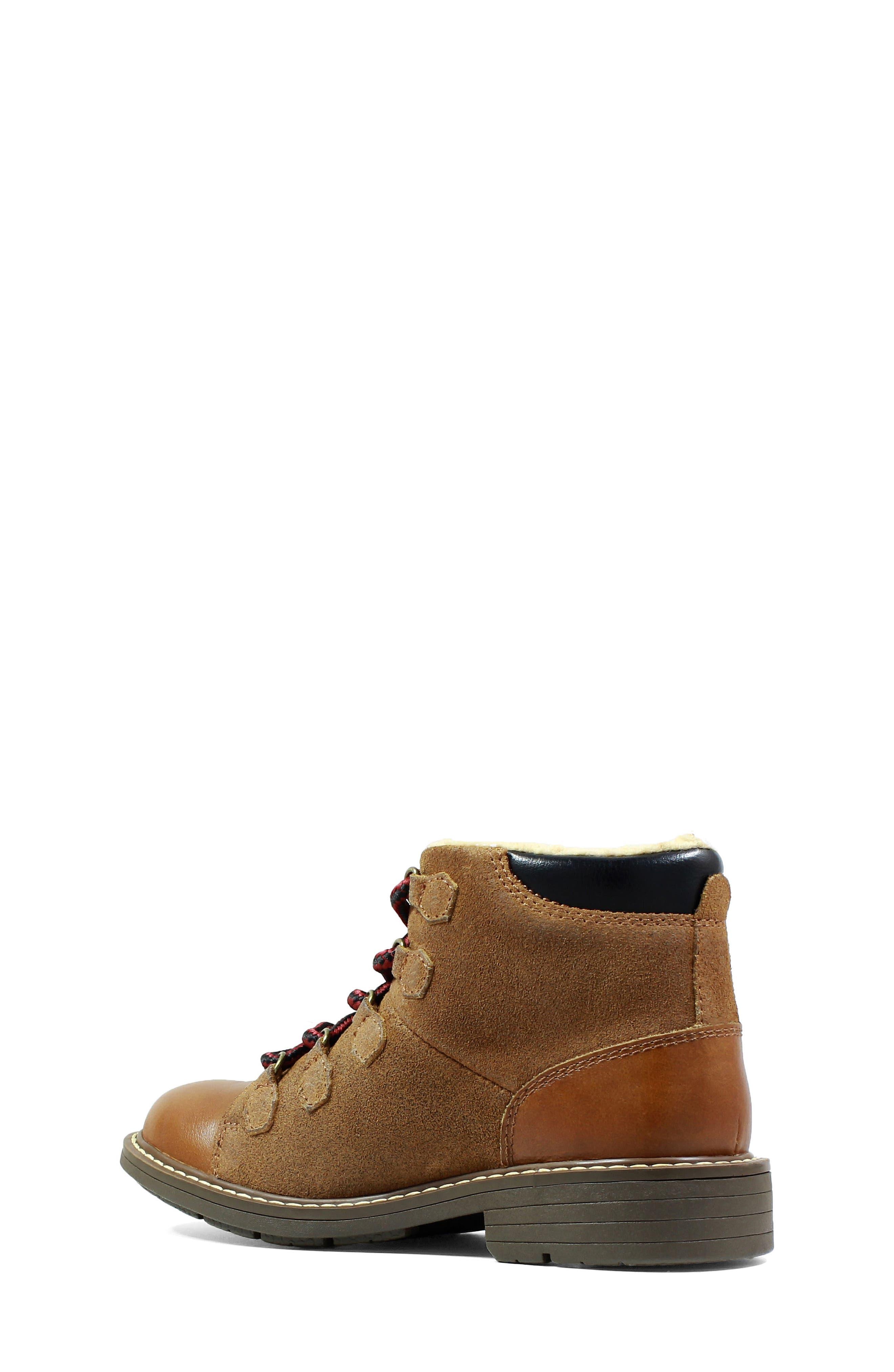 Studio Alpine Plush Lined Boot,                             Alternate thumbnail 2, color,                             Cognac