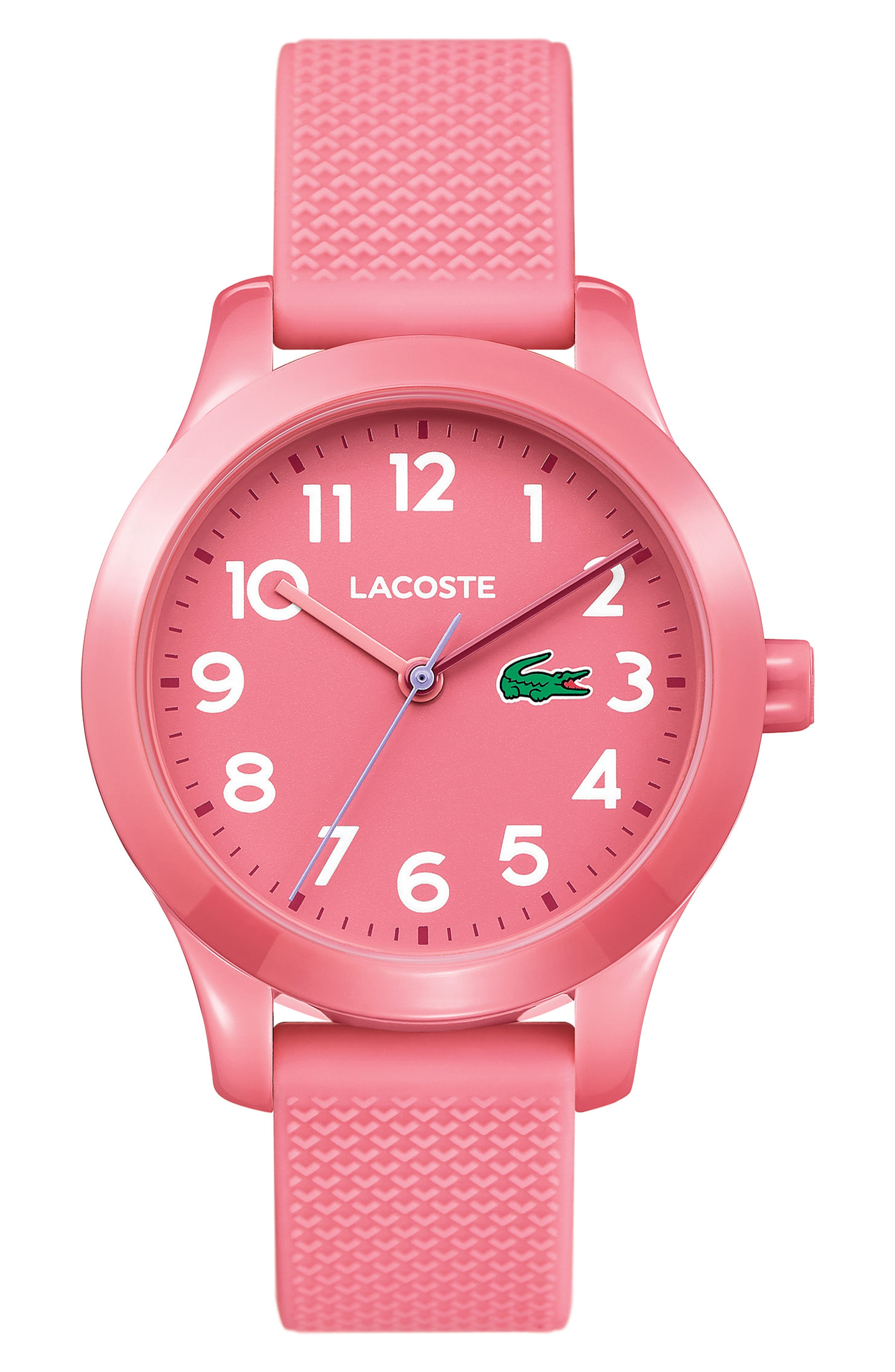 Kids 12.12 Silicone Strap Watch, 32mm,                             Main thumbnail 1, color,                             Pink