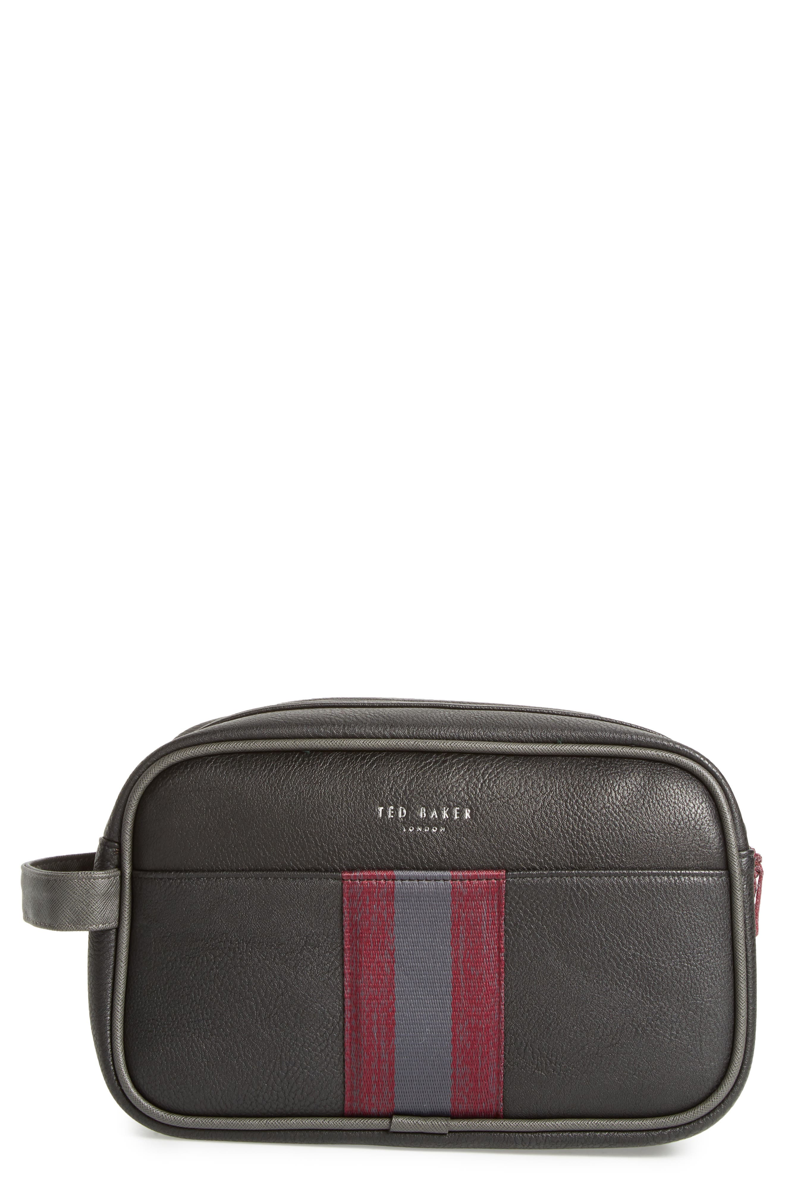 Pidgy Faux Leather Travel Kit,                         Main,                         color, Black