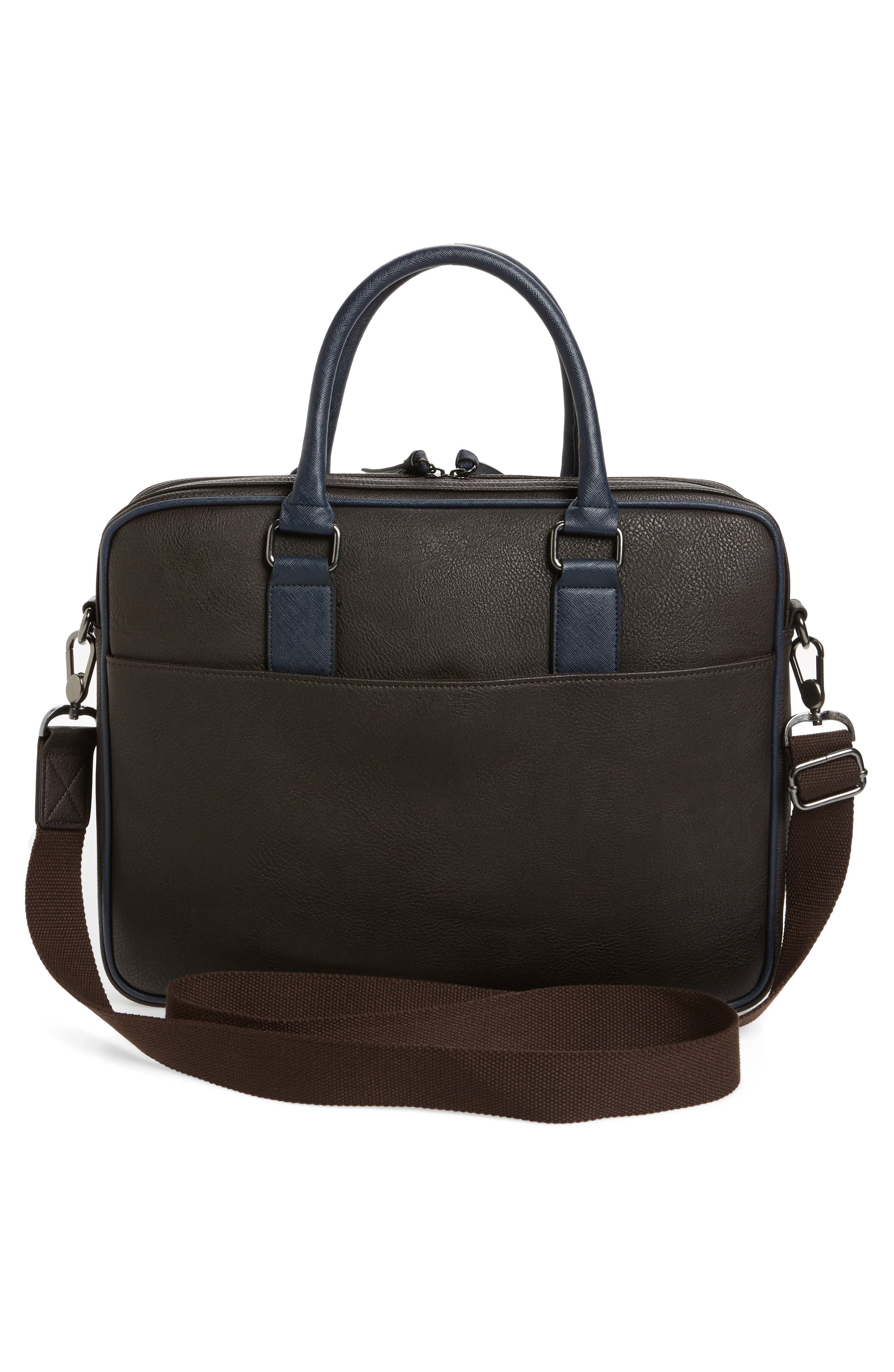 Slivain Briefcase,                             Alternate thumbnail 3, color,                             Chocolate