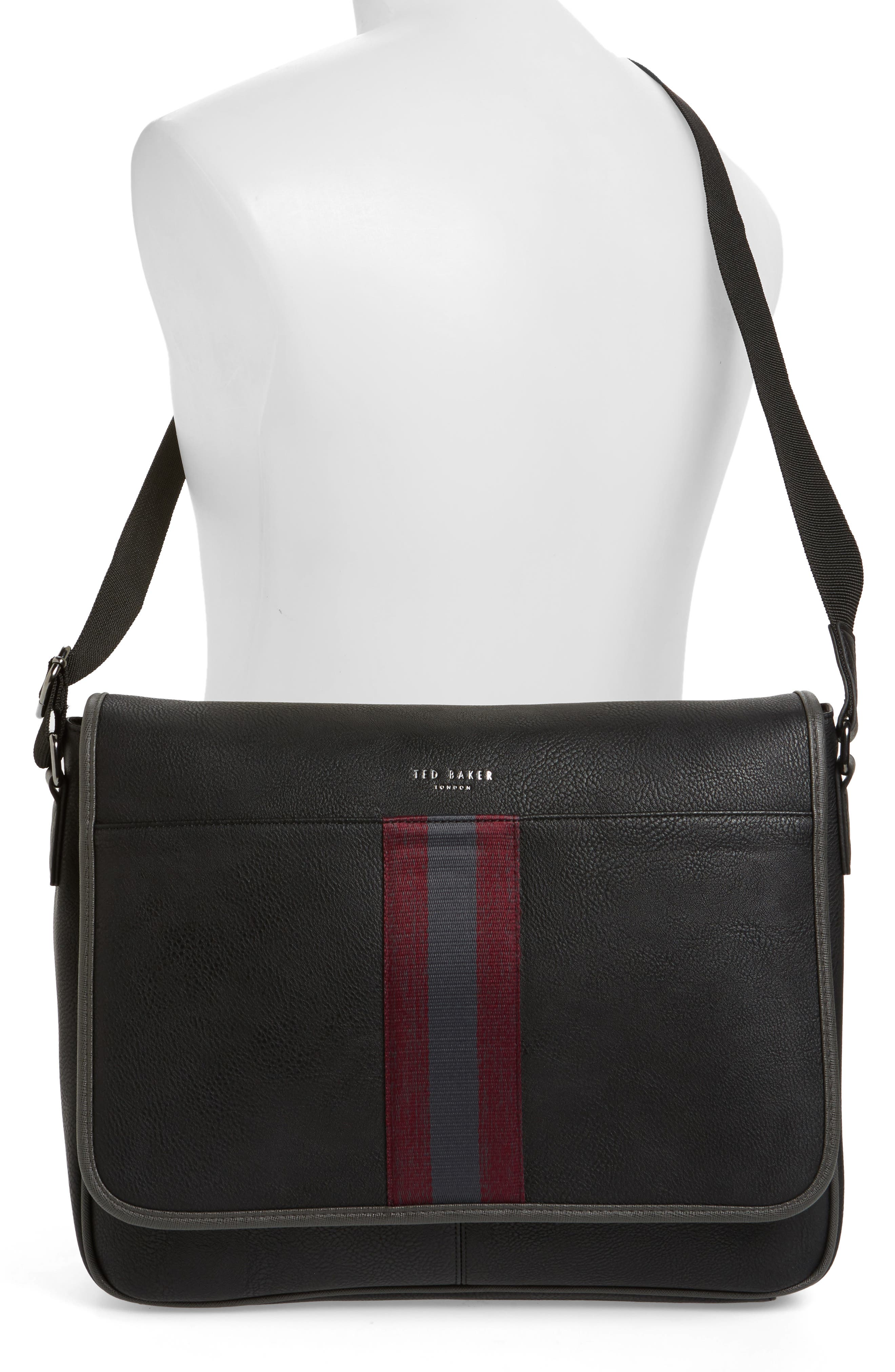Buzard Messenger Bag,                             Alternate thumbnail 2, color,                             Black