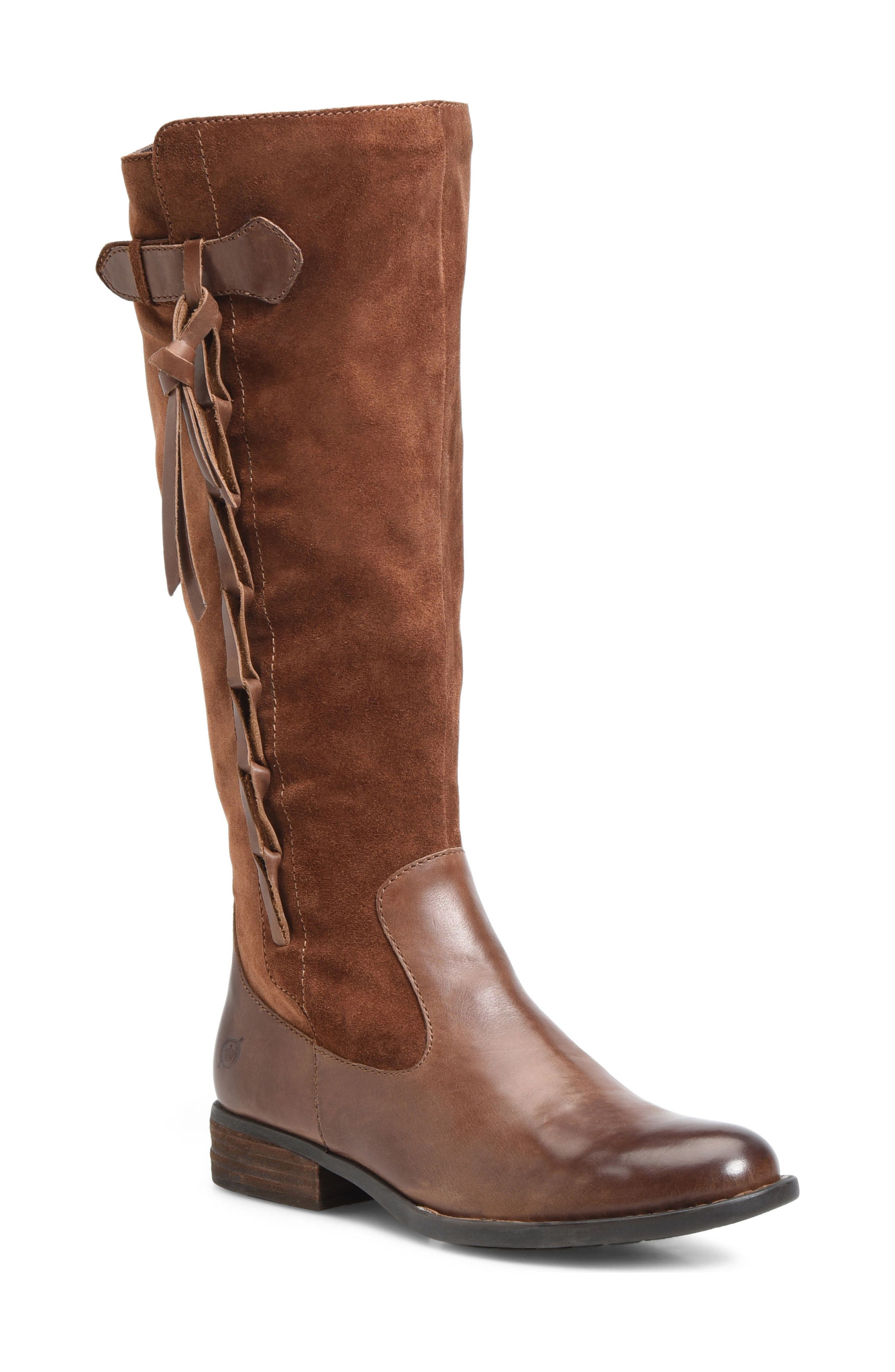 Cook Knee High Boot,                         Main,                         color, Brown/ Rust Combo
