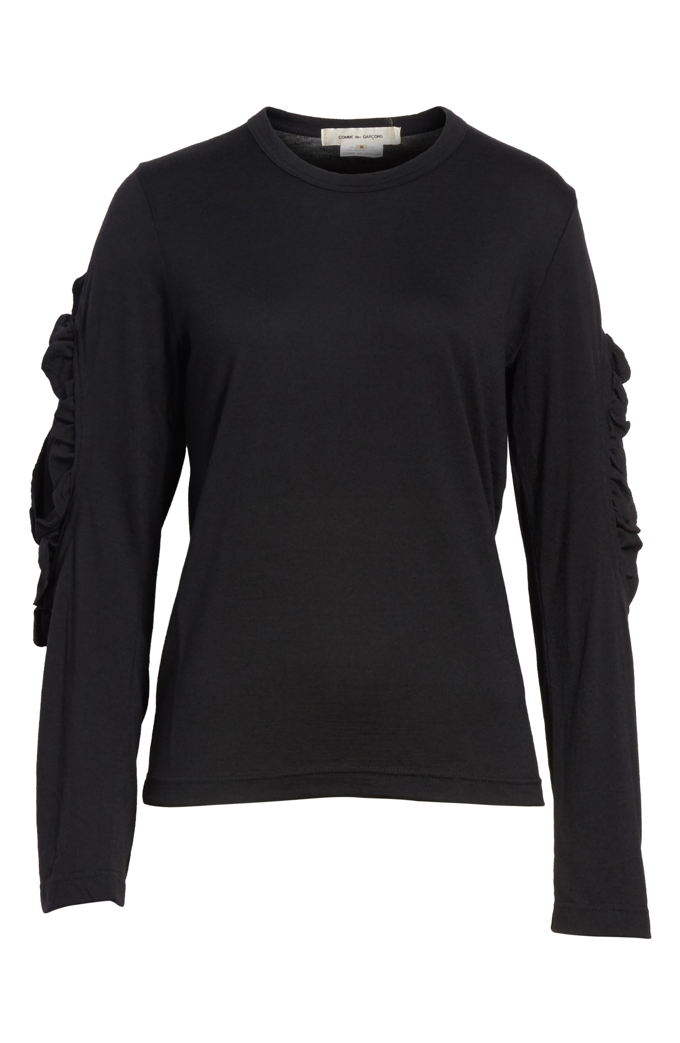 Alternate Image 6  - Comme des Garçons Ruffle Sleeve Wool Top