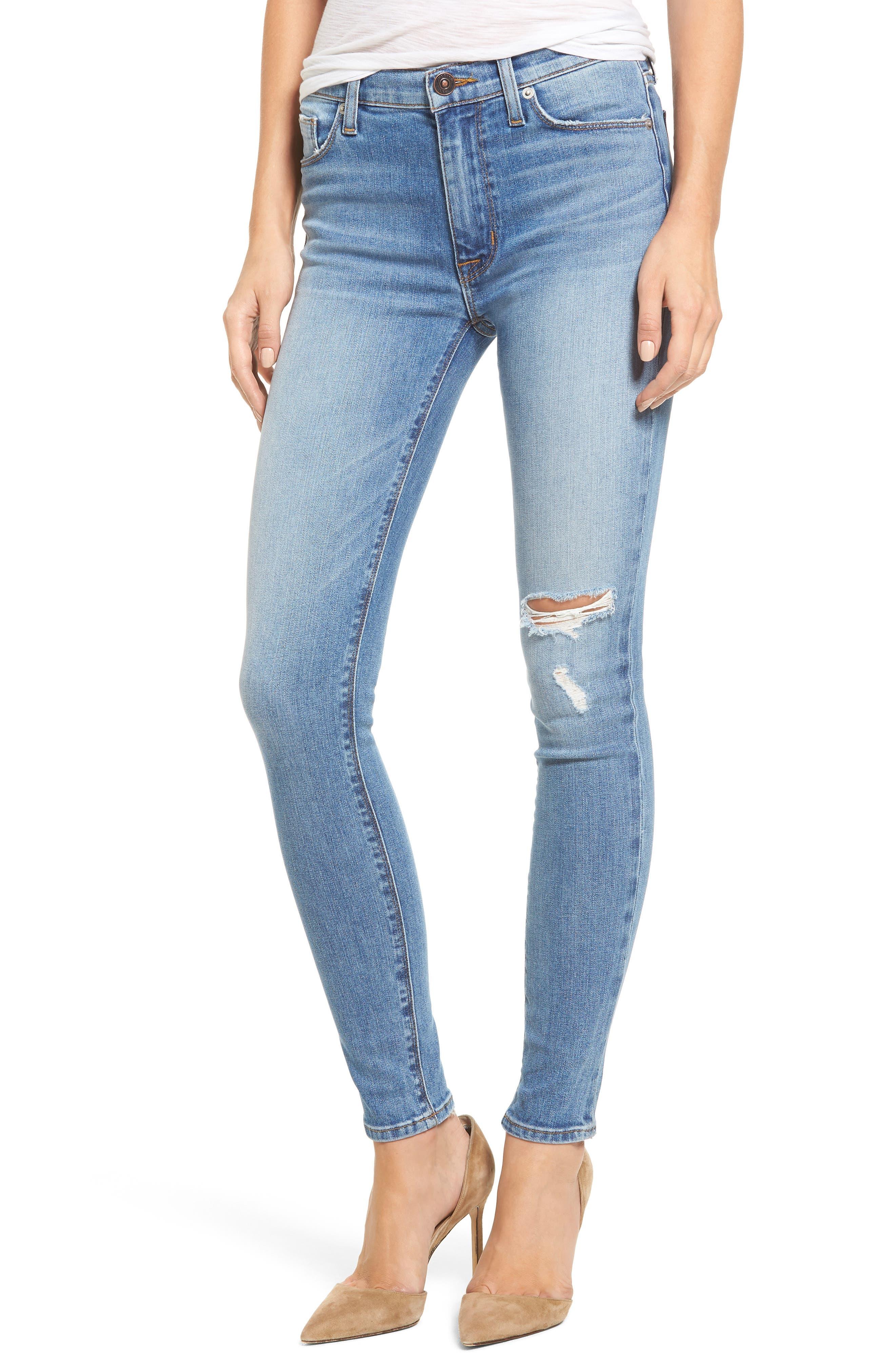 Alternate Image 1 Selected - Hudson Jeans Barbara High Waist Super Skinny Jeans