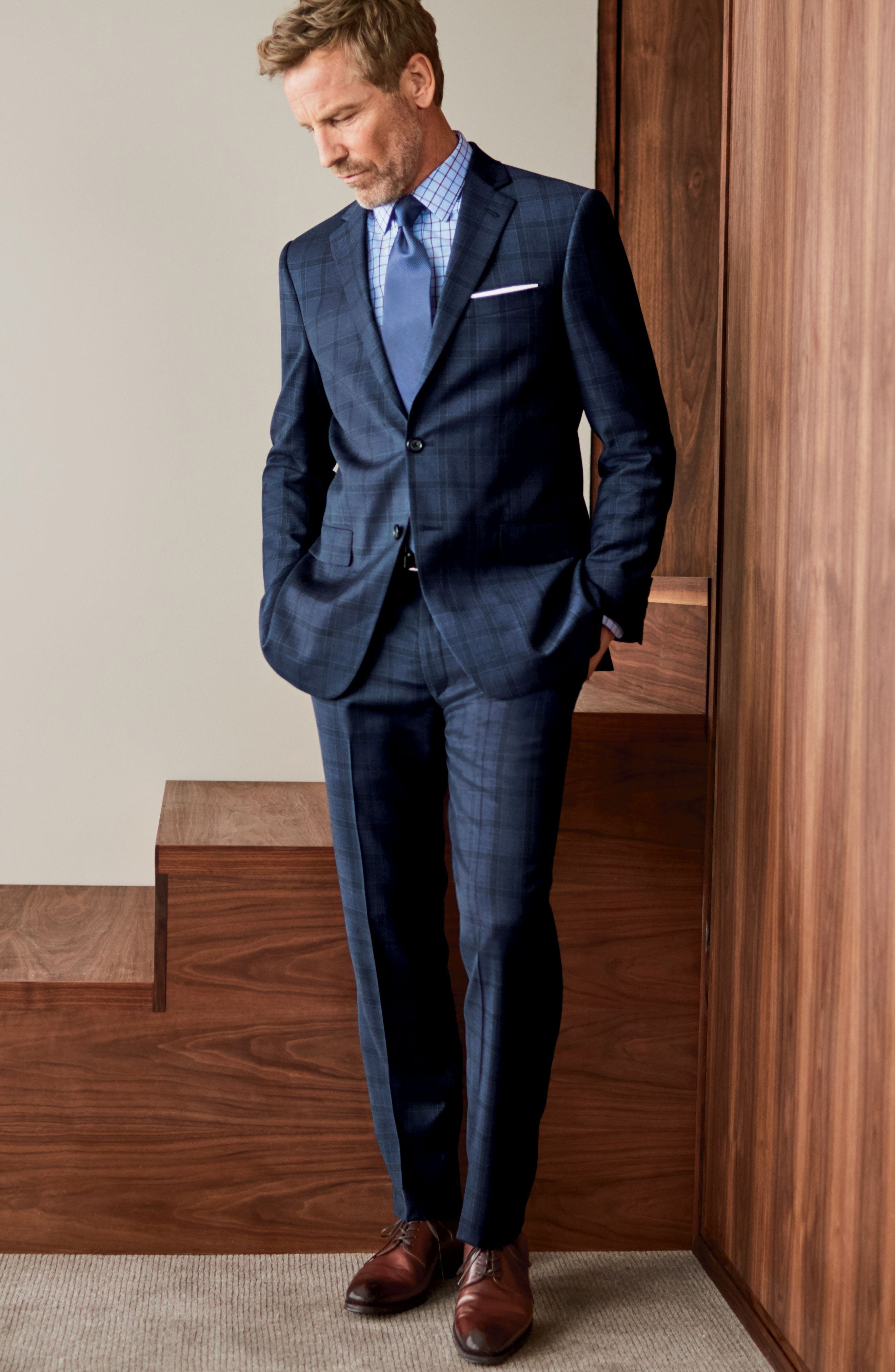 Alternate Image 8  - Hart Schaffner Marx Classic Fit Check Wool Suit