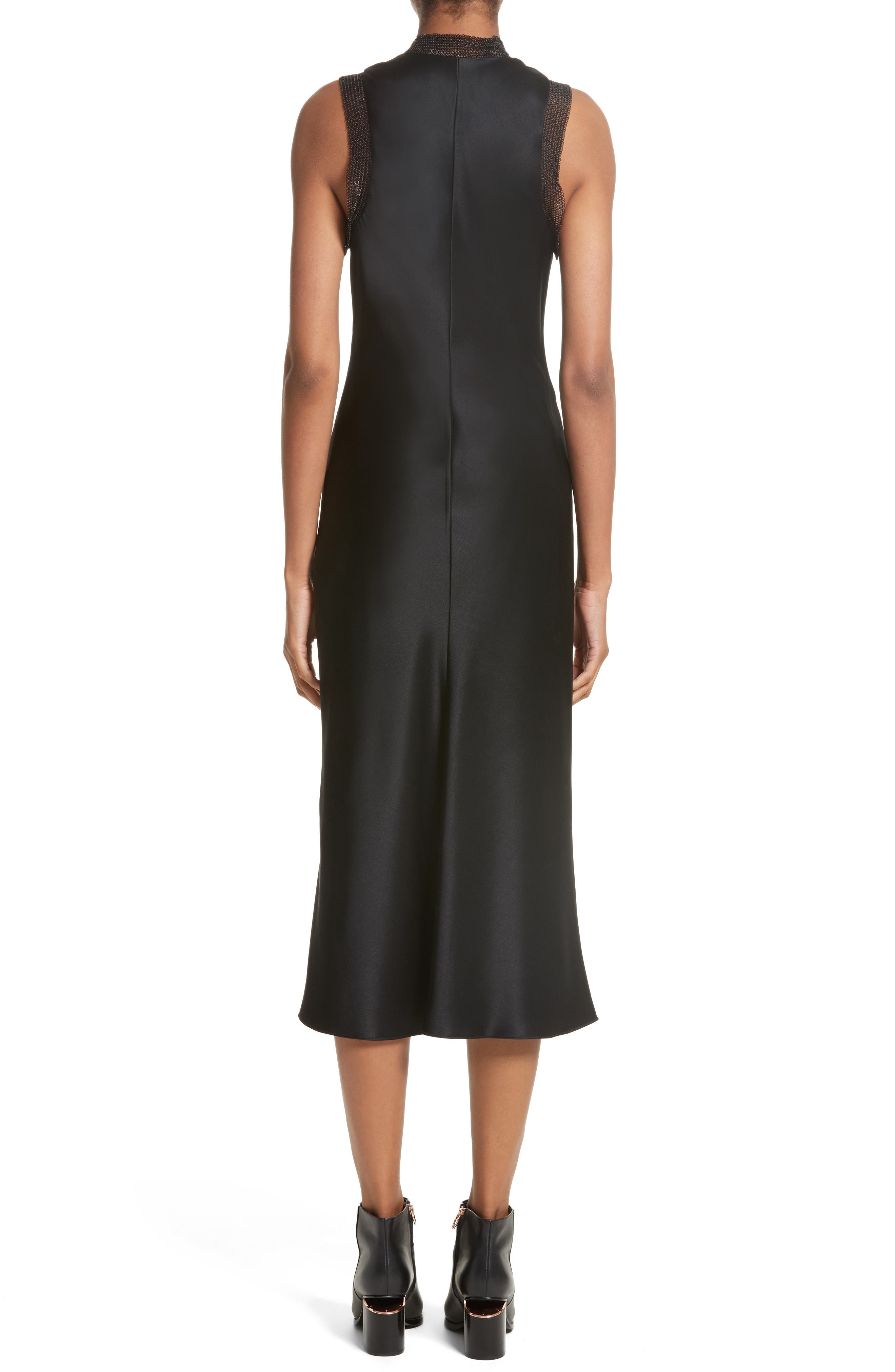 Alternate Image 2  - Alexander Wang Chain Mail Trim Silk Slipdress