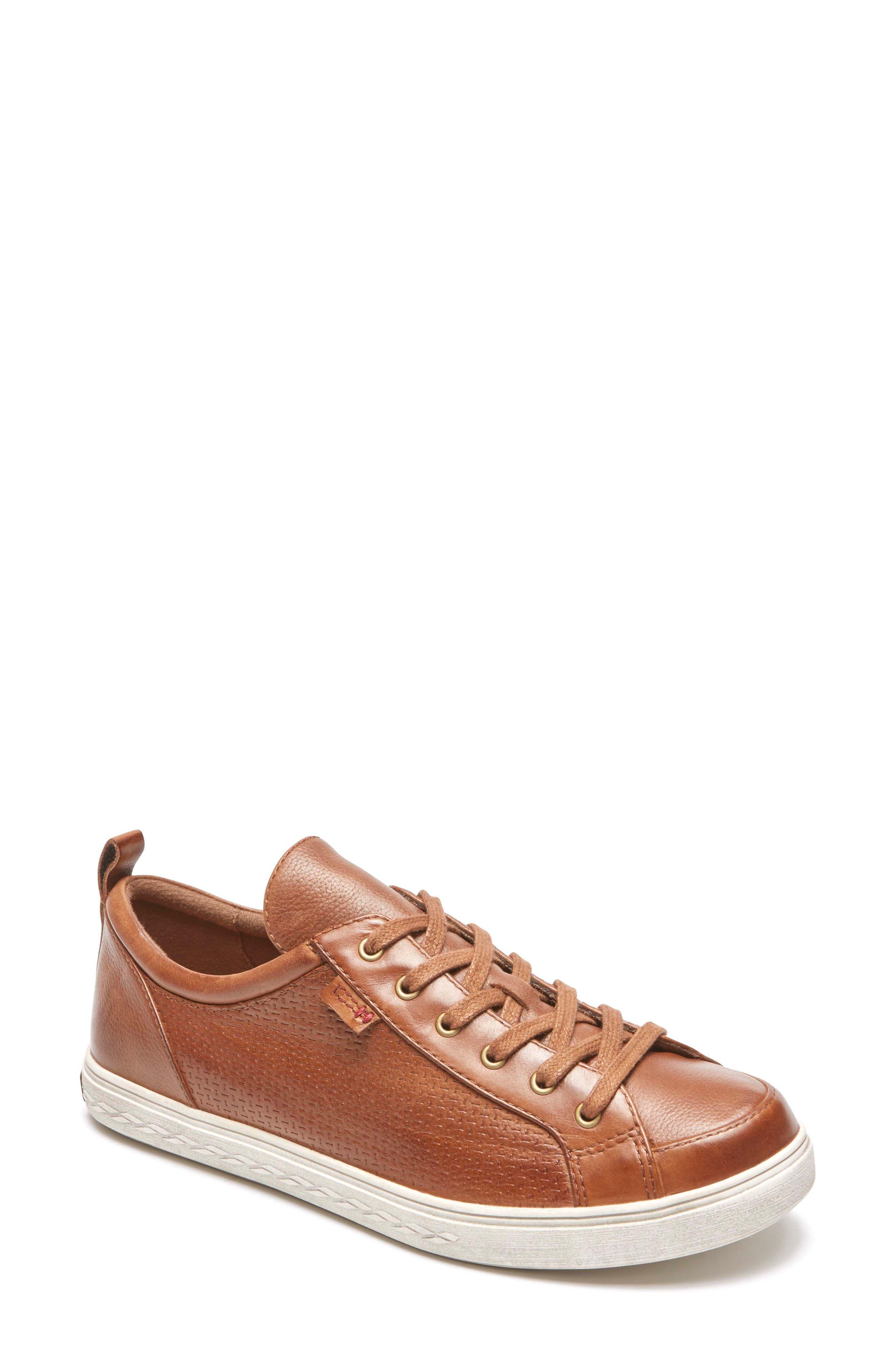 Willa Sneaker,                         Main,                         color, Almond Leather