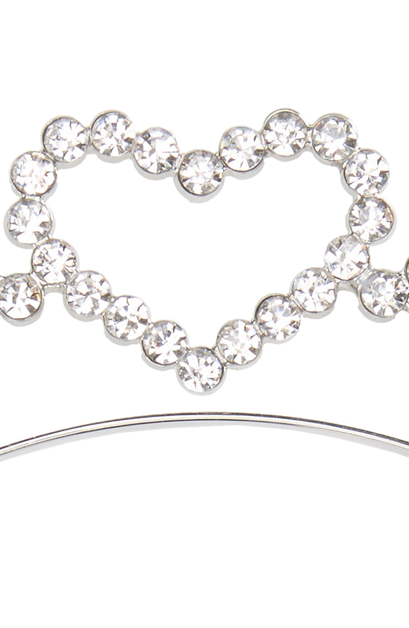 Alternate Image 2  - Accessory Collective Crystal Heart Headband (Girls)