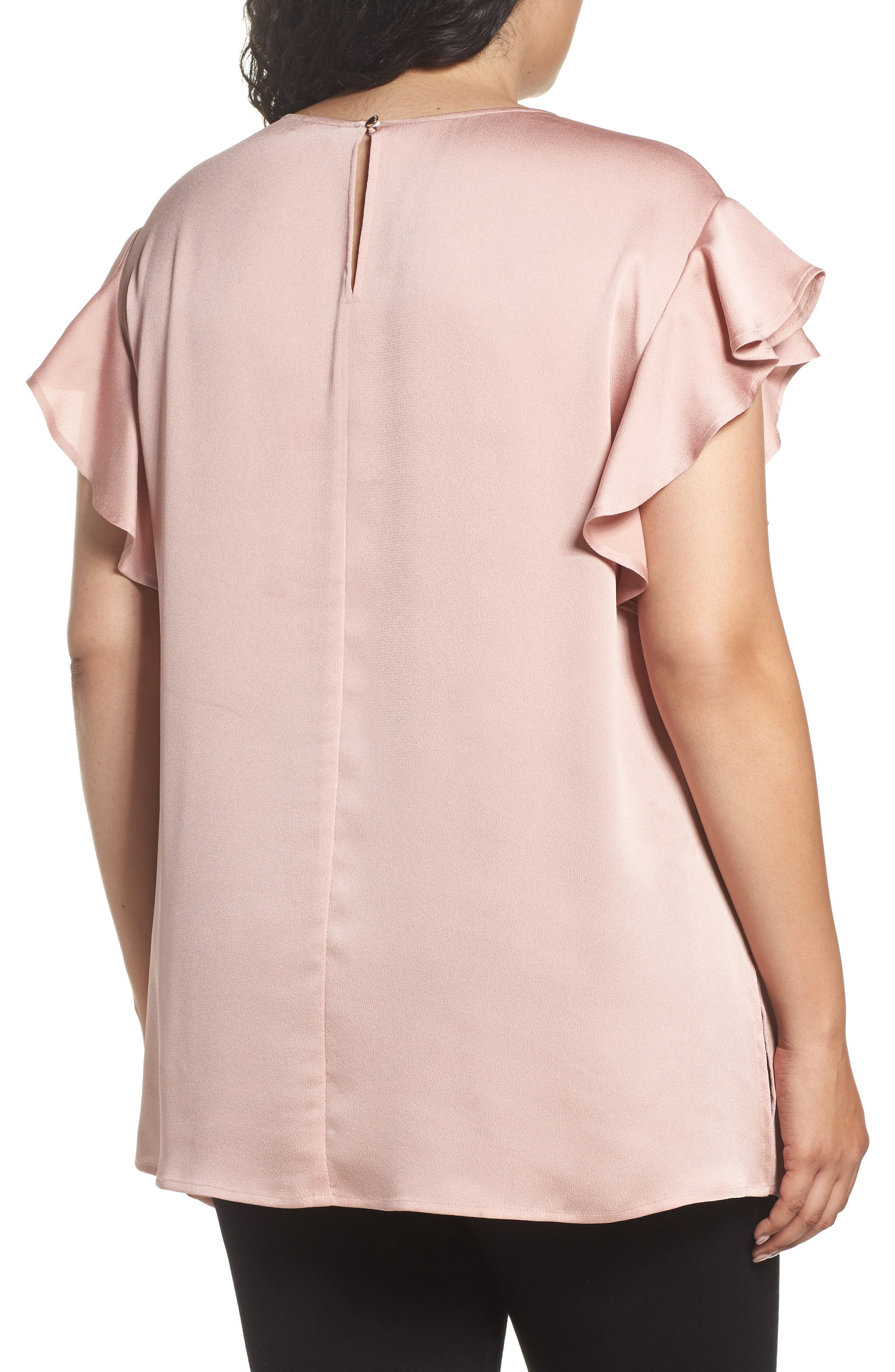 Ruffle Sleeve Blouse,                             Alternate thumbnail 2, color,                             607Iced Rose