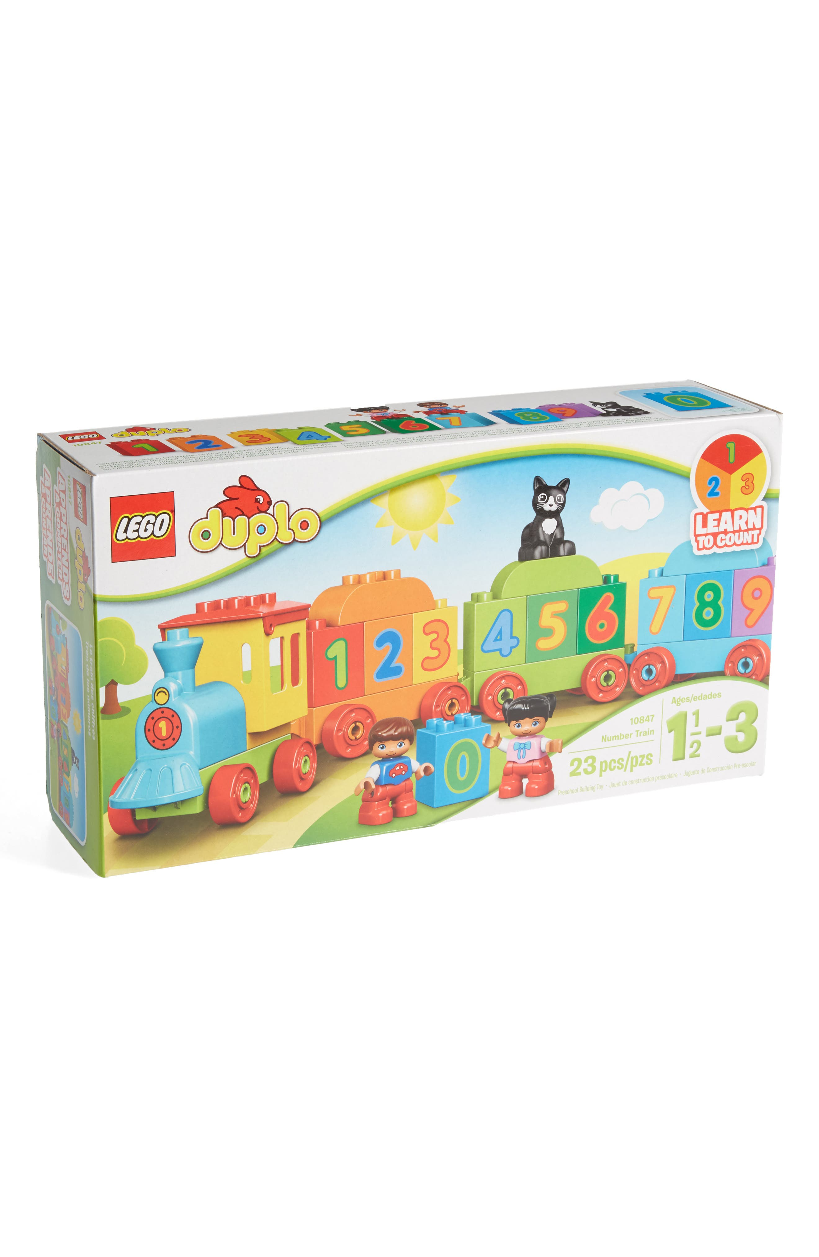 DUPLO<sup>®</sup> Number Train - 10847,                             Main thumbnail 1, color,                             Green