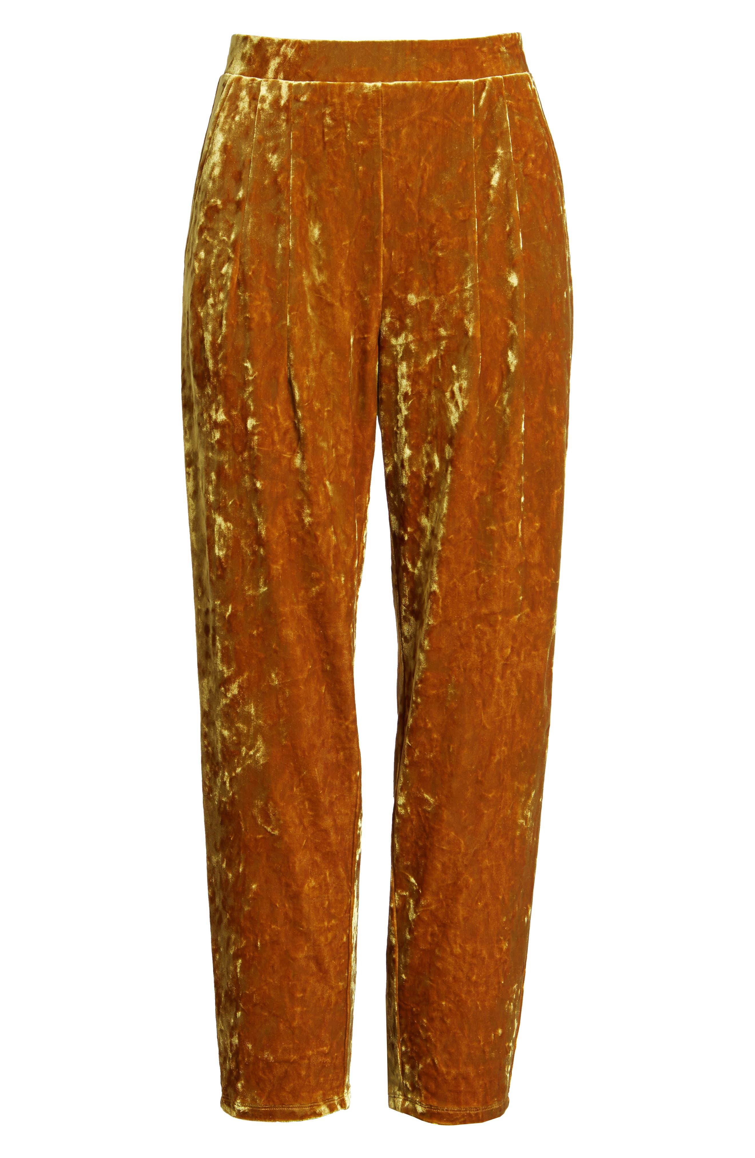 Alternate Image 6  - Leith Pleat Front Velour Pants