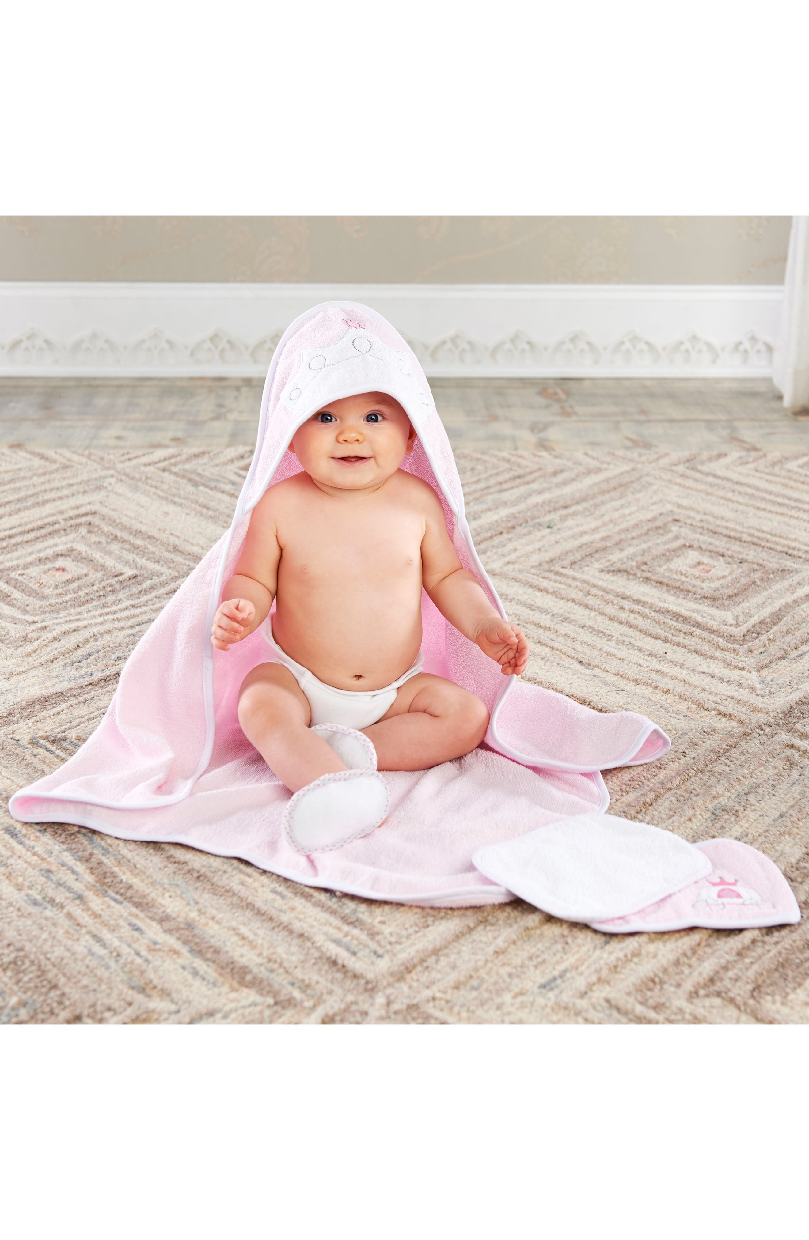 Alternate Image 3  - Baby Aspen Little Princess 4-Piece Bath Set (Baby Girls)