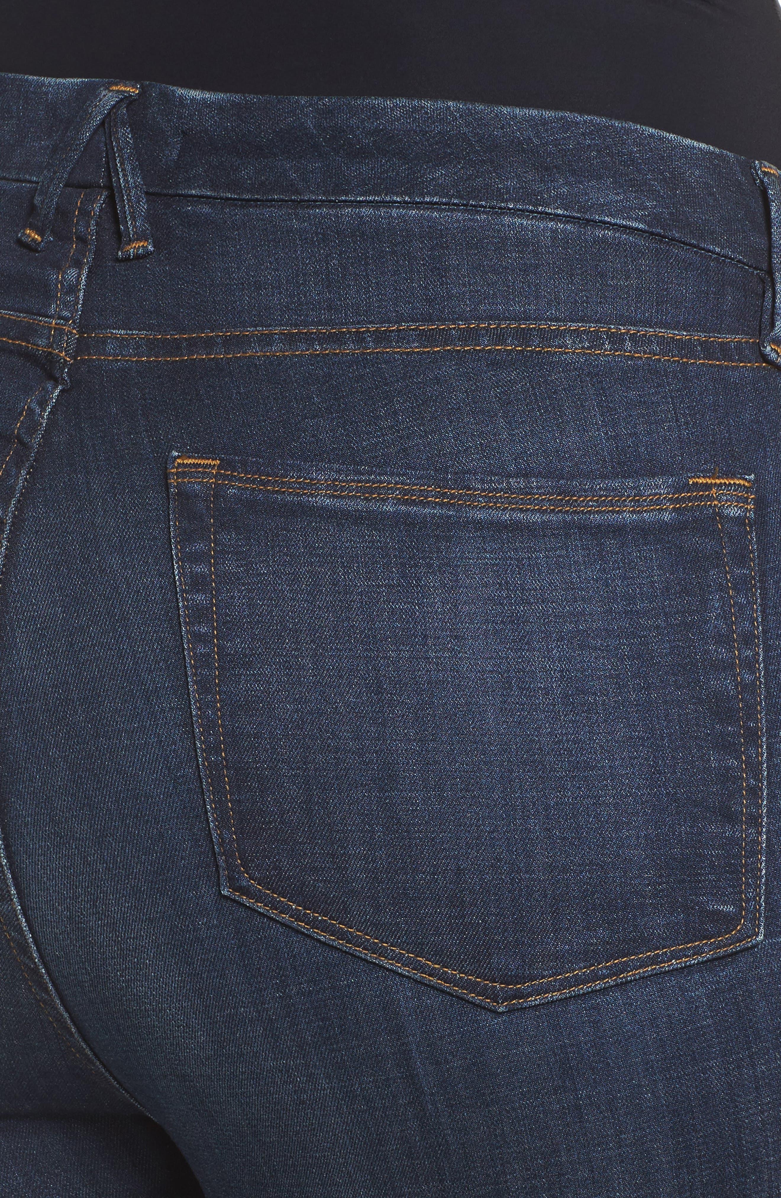 Good Legs High Waist Ankle Skinny Jeans,                             Alternate thumbnail 4, color,                             Blue 089