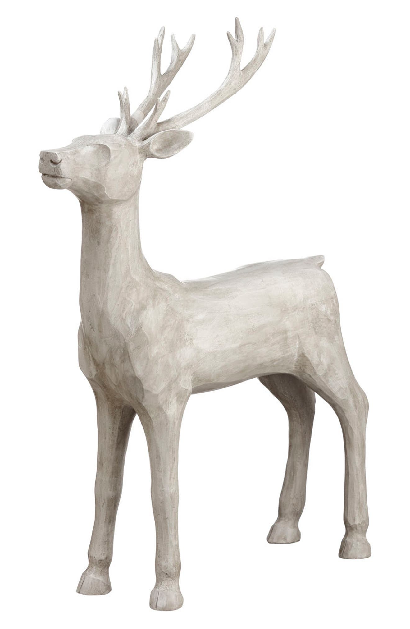 Reindeer Decoration,                         Main,                         color, White