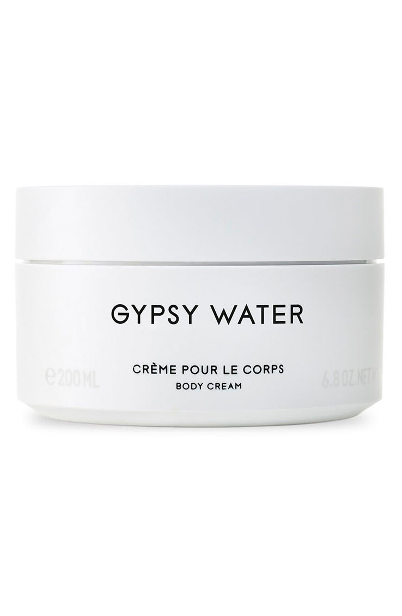 Gypsy Water Body Cream,                             Main thumbnail 1, color,                             No Color
