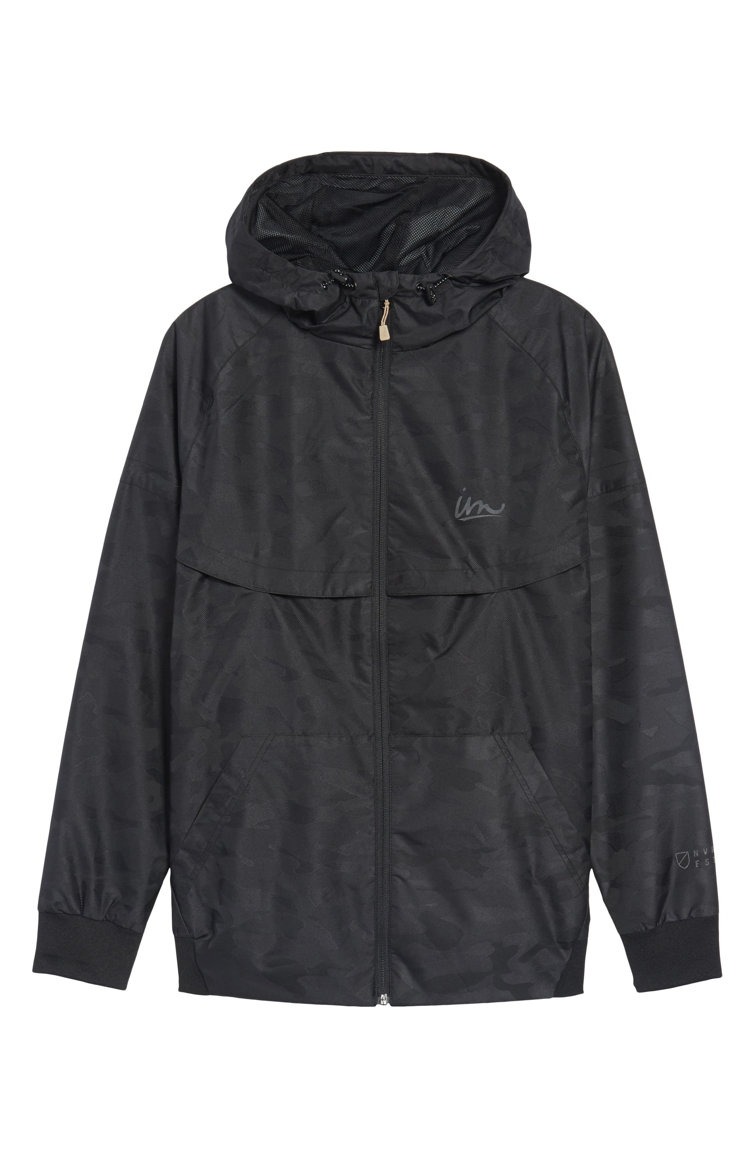 Larter Breaker Jacket,                             Alternate thumbnail 6, color,                             Black Camo