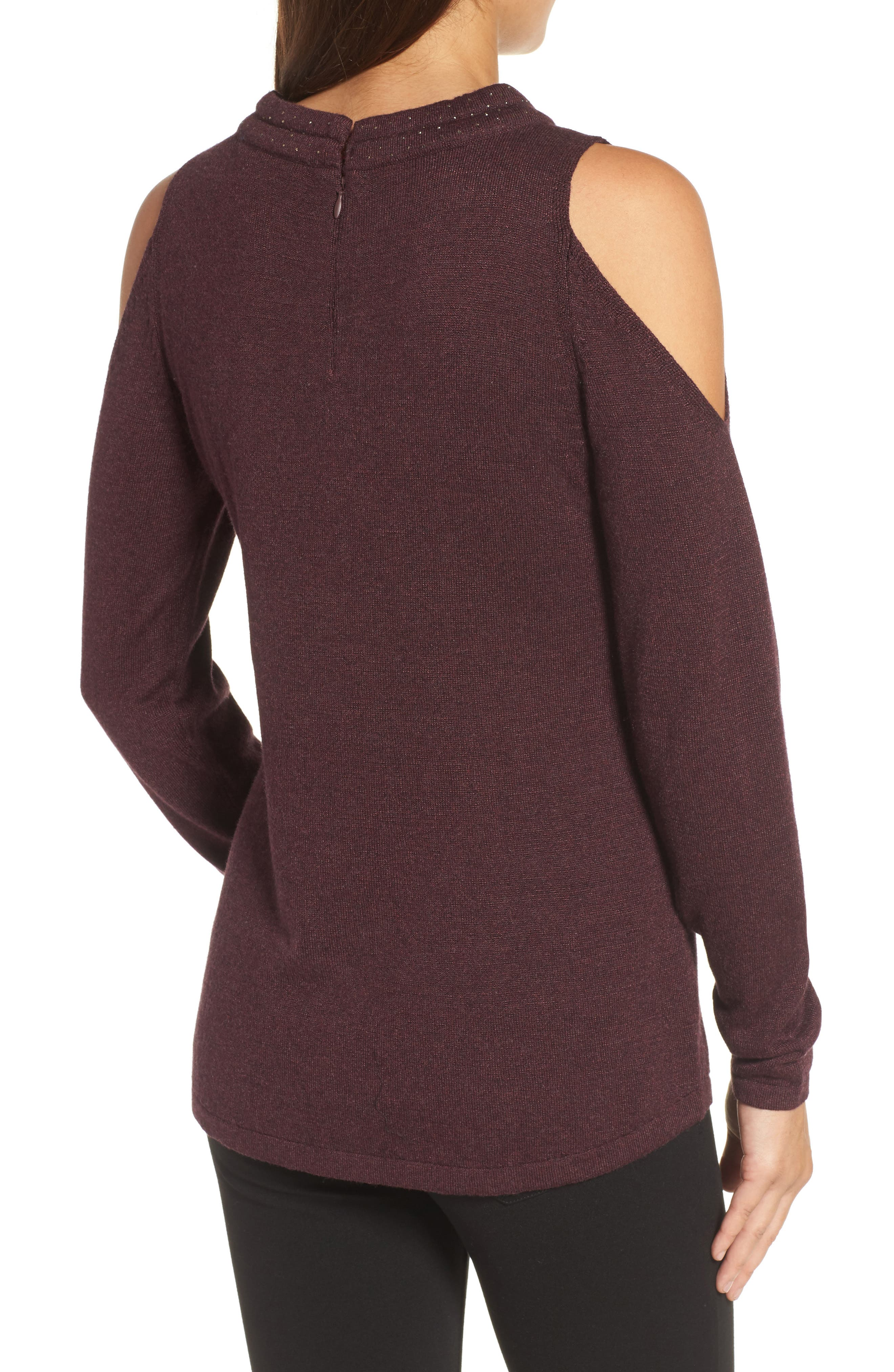 Alternate Image 2  - NIC+ZOE Jewel Neck Cold Shoulder Top (Regular & Petite)