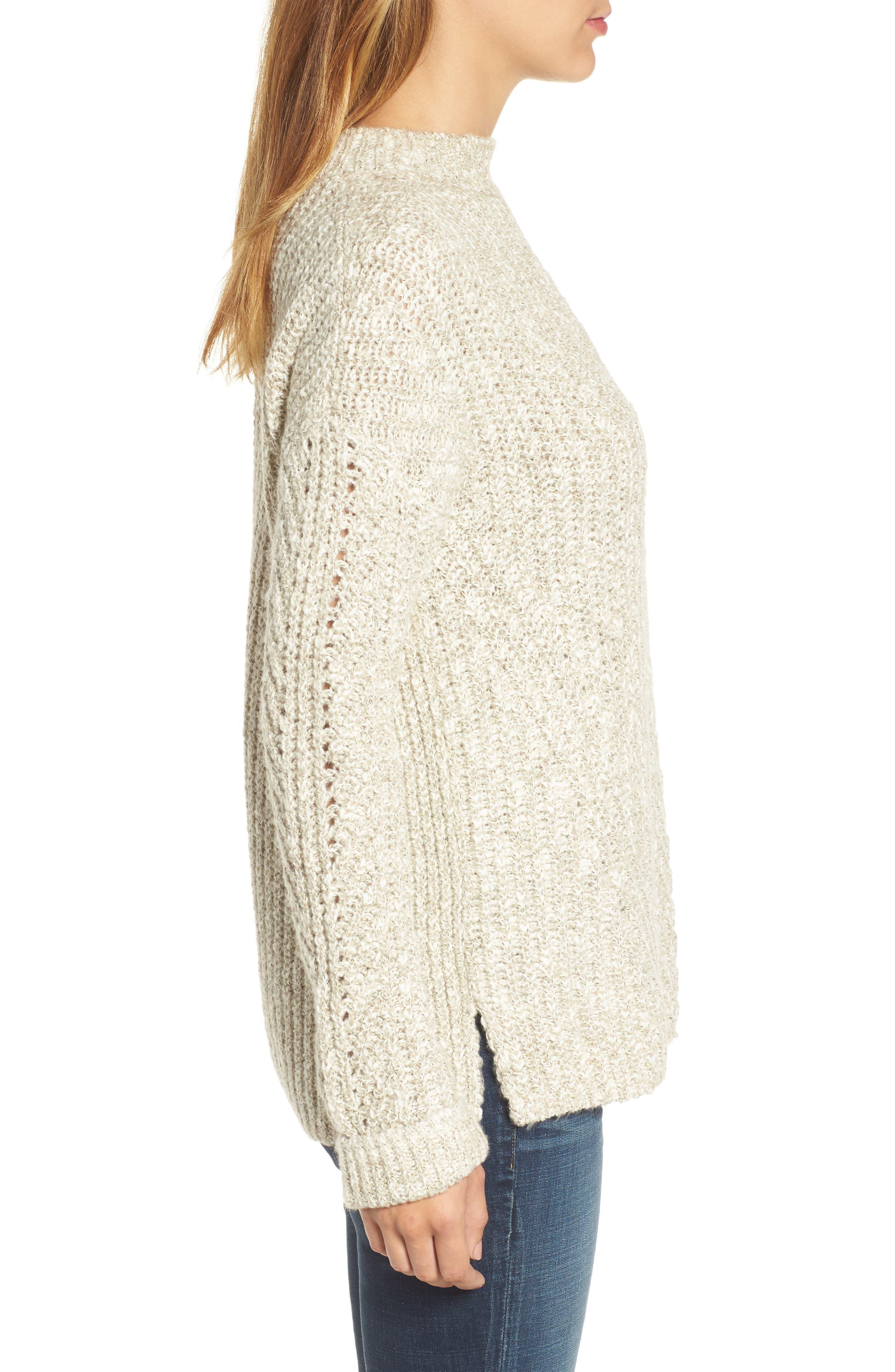 Alternate Image 3  - Lucky Brand Open Stitch Sweater