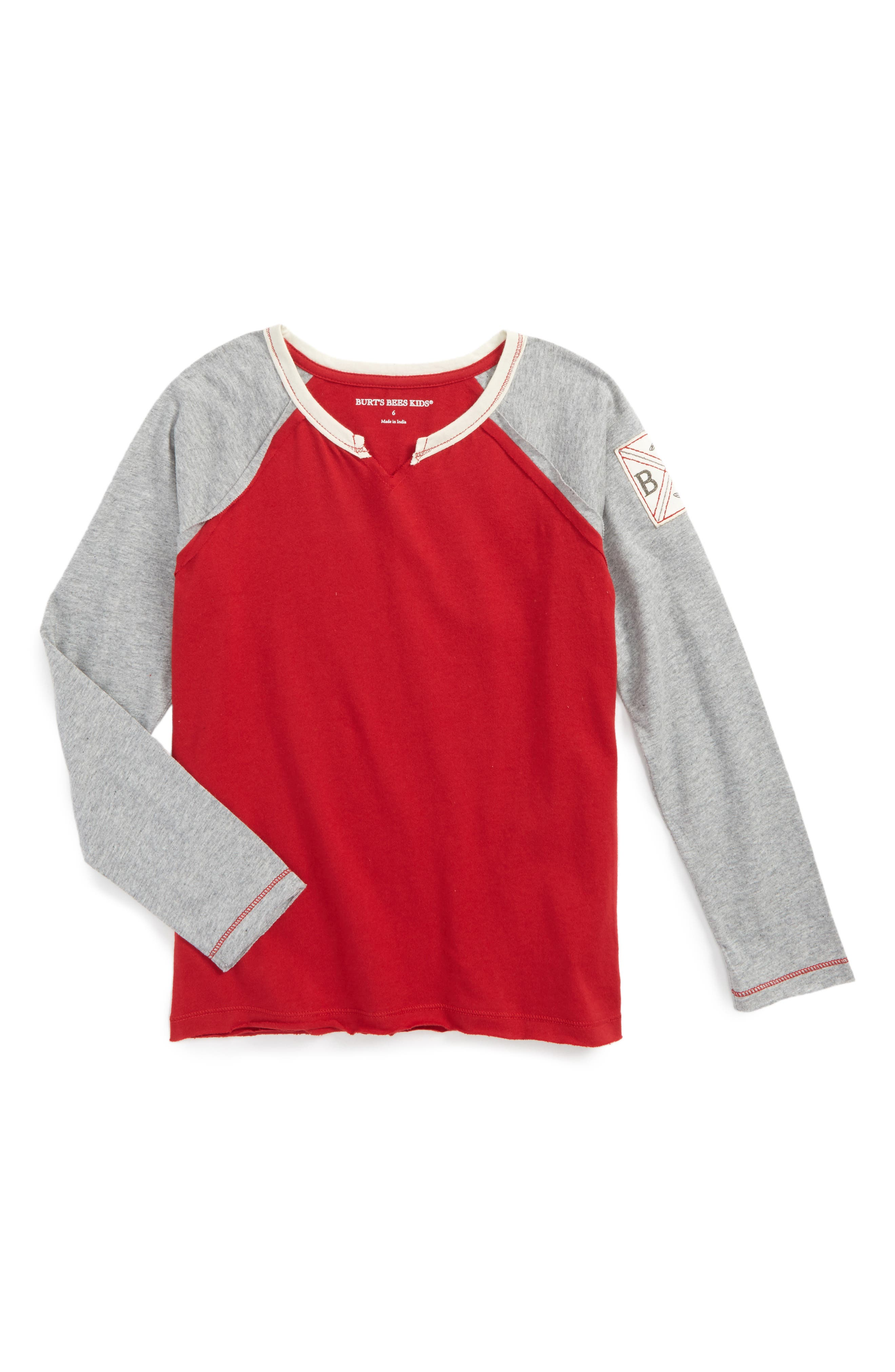 Burt's Bees Baby Colorblock Organic Cotton Raglan T-Shirt (Toddler Boys & Little Boys)