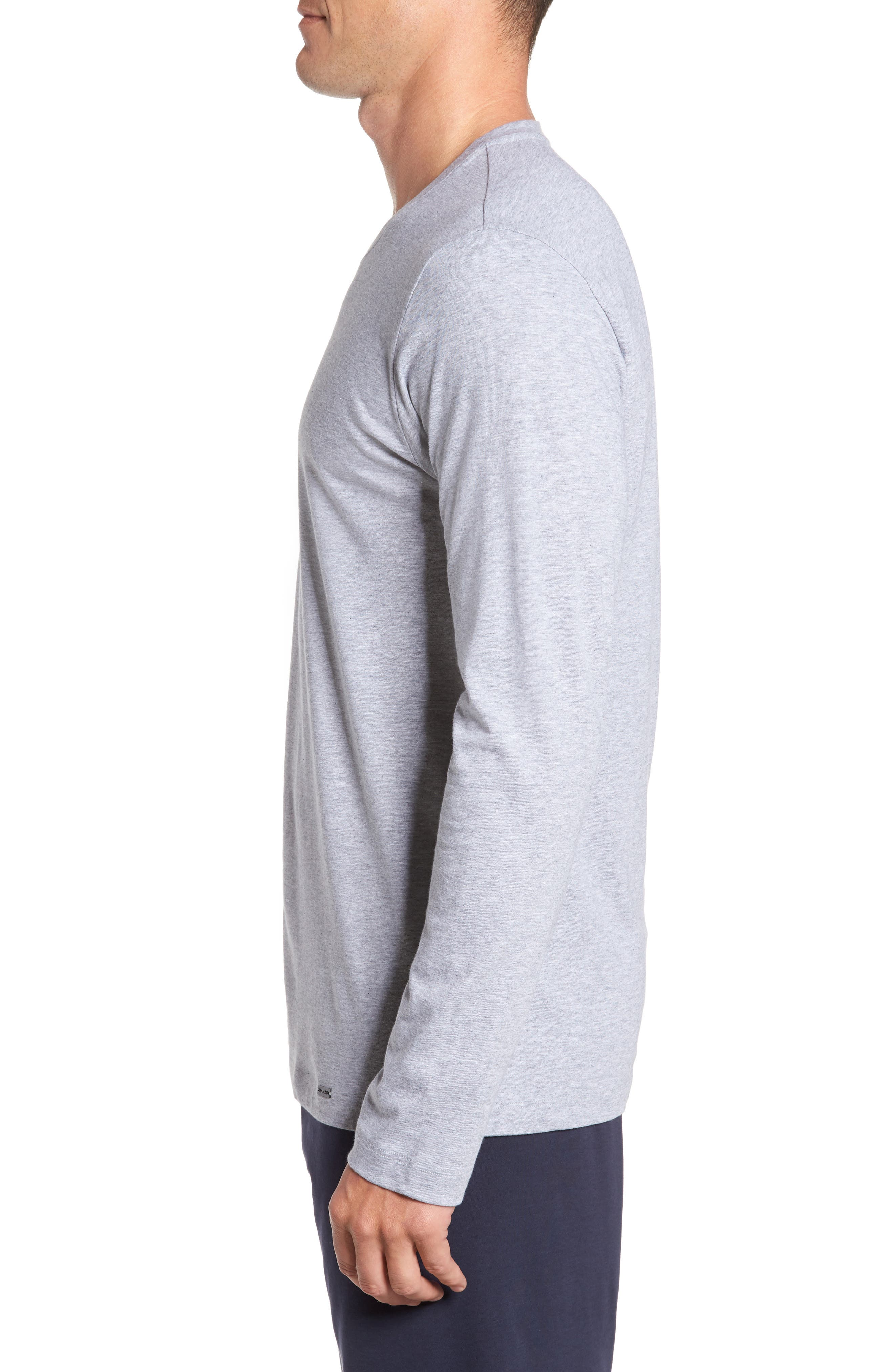 Living Long Sleeve T-Shirt,                             Alternate thumbnail 3, color,                             Grey Melange