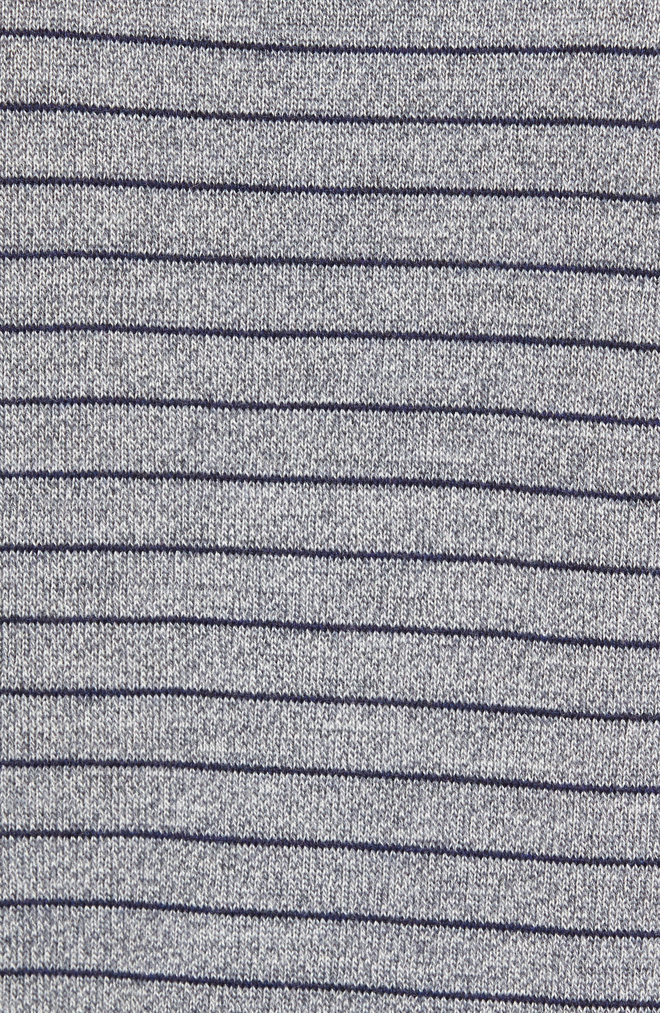 Nori Stripe Merino Wool T-Shirt,                             Alternate thumbnail 5, color,                             Heather Ink