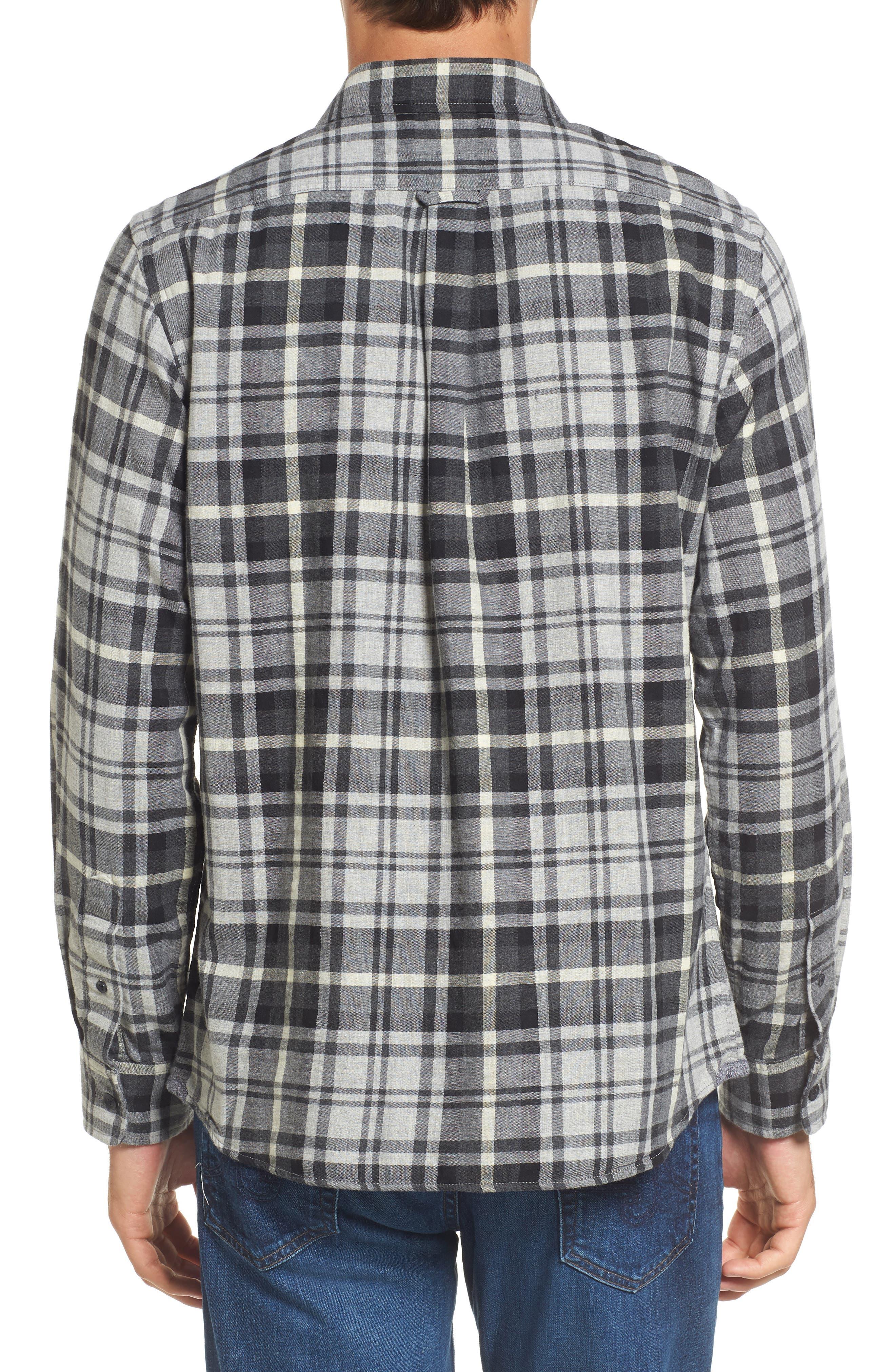 Alternate Image 2  - Grayers Heath Modern Fit Plaid Double Cloth Sport Shirt