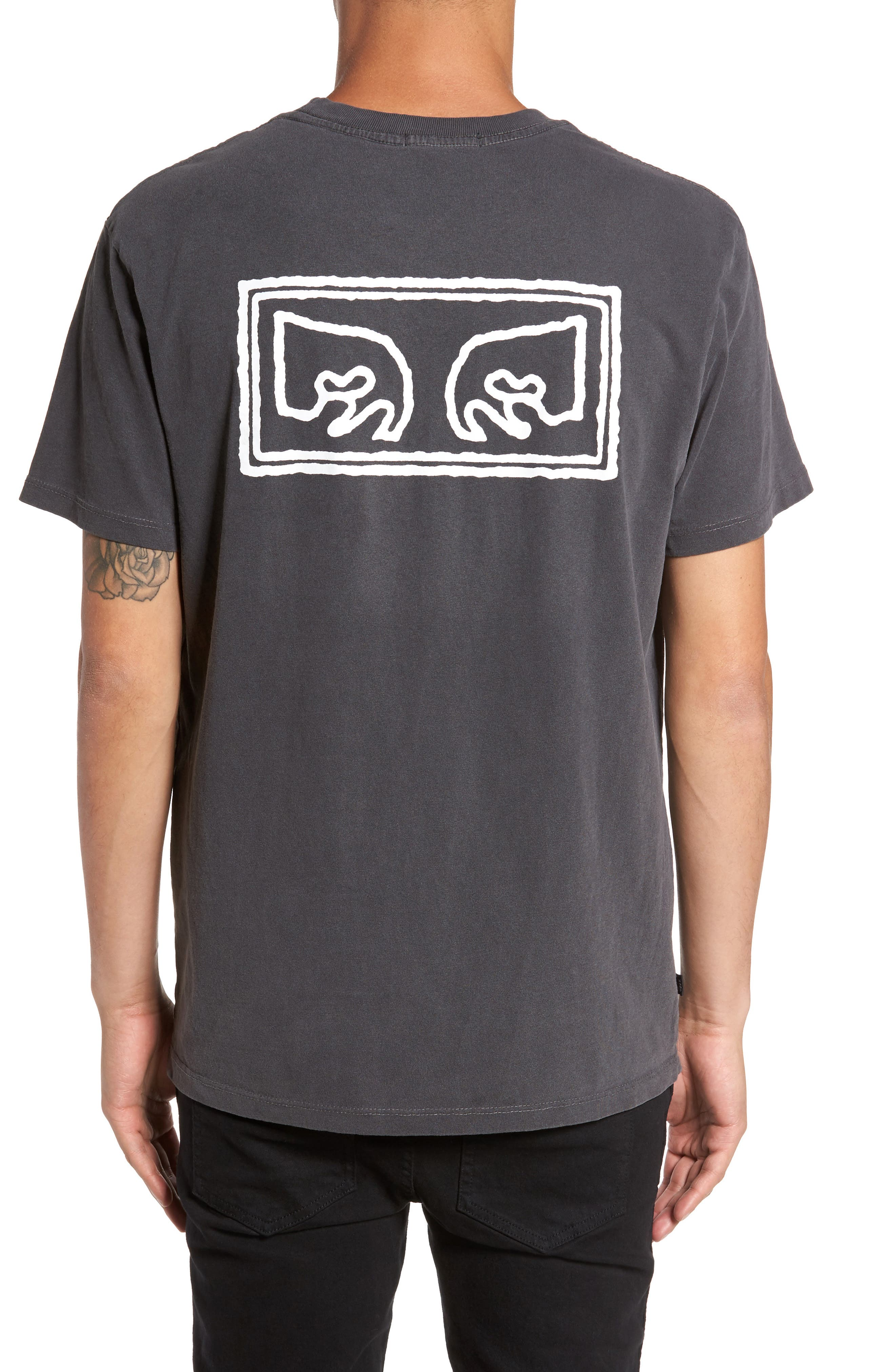 Eyes Graphic T-Shirt,                             Alternate thumbnail 2, color,                             Dusty Black