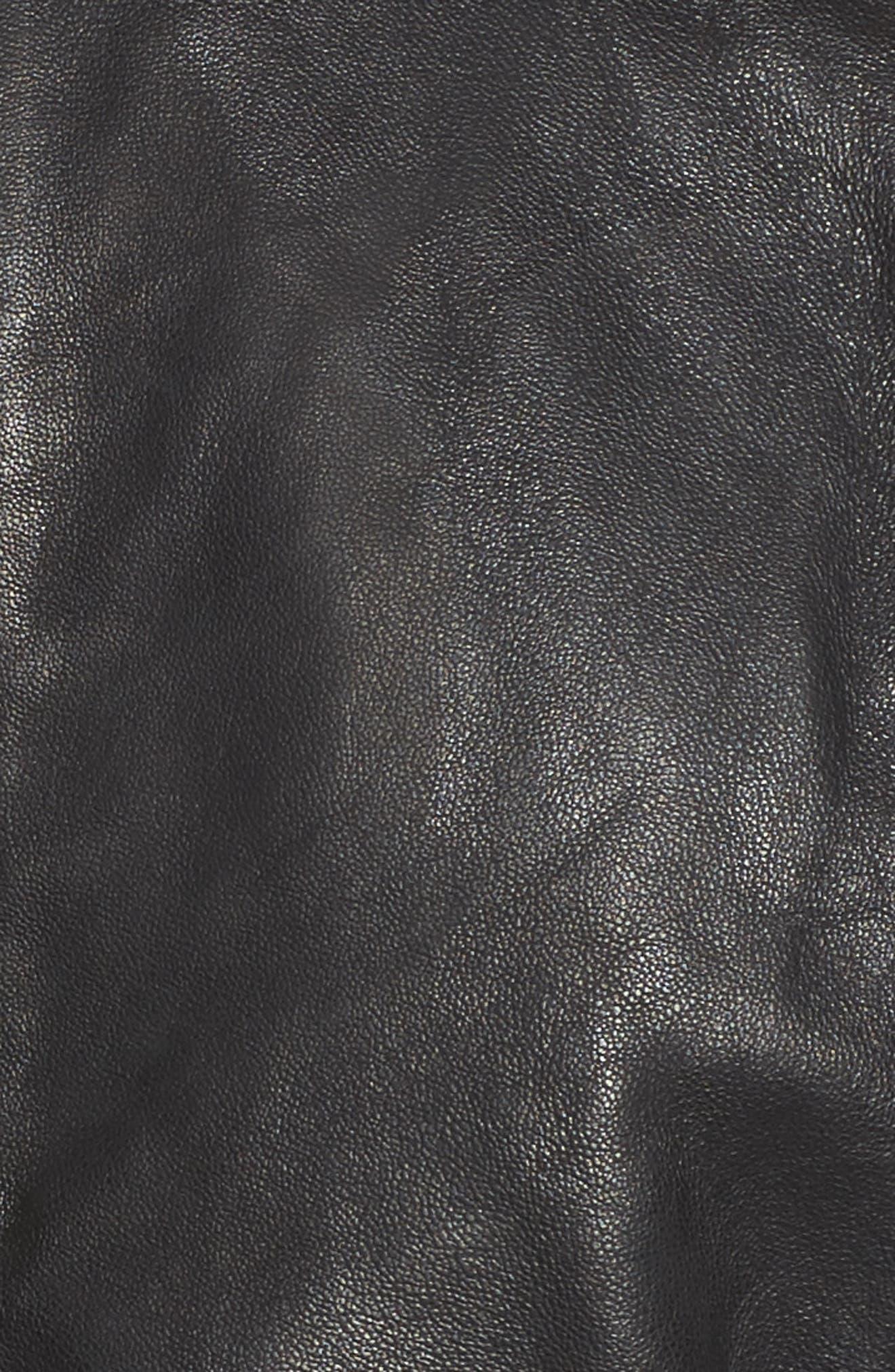 Alternate Image 5  - Bernardo Leather Moto Jacket