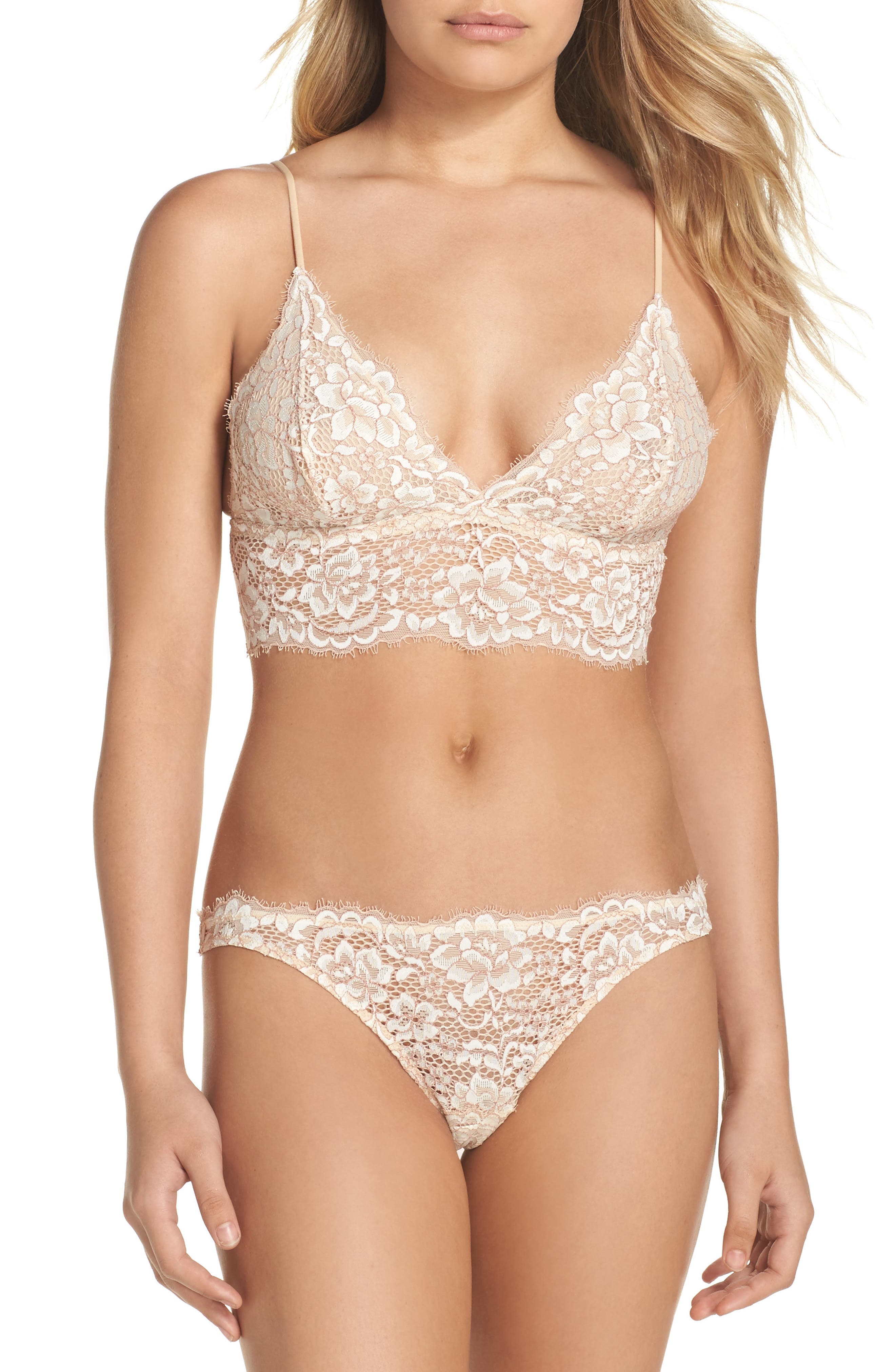 Pret Longline Triangle Bralette,                             Alternate thumbnail 5, color,                             Moon Iv/ Mandorla