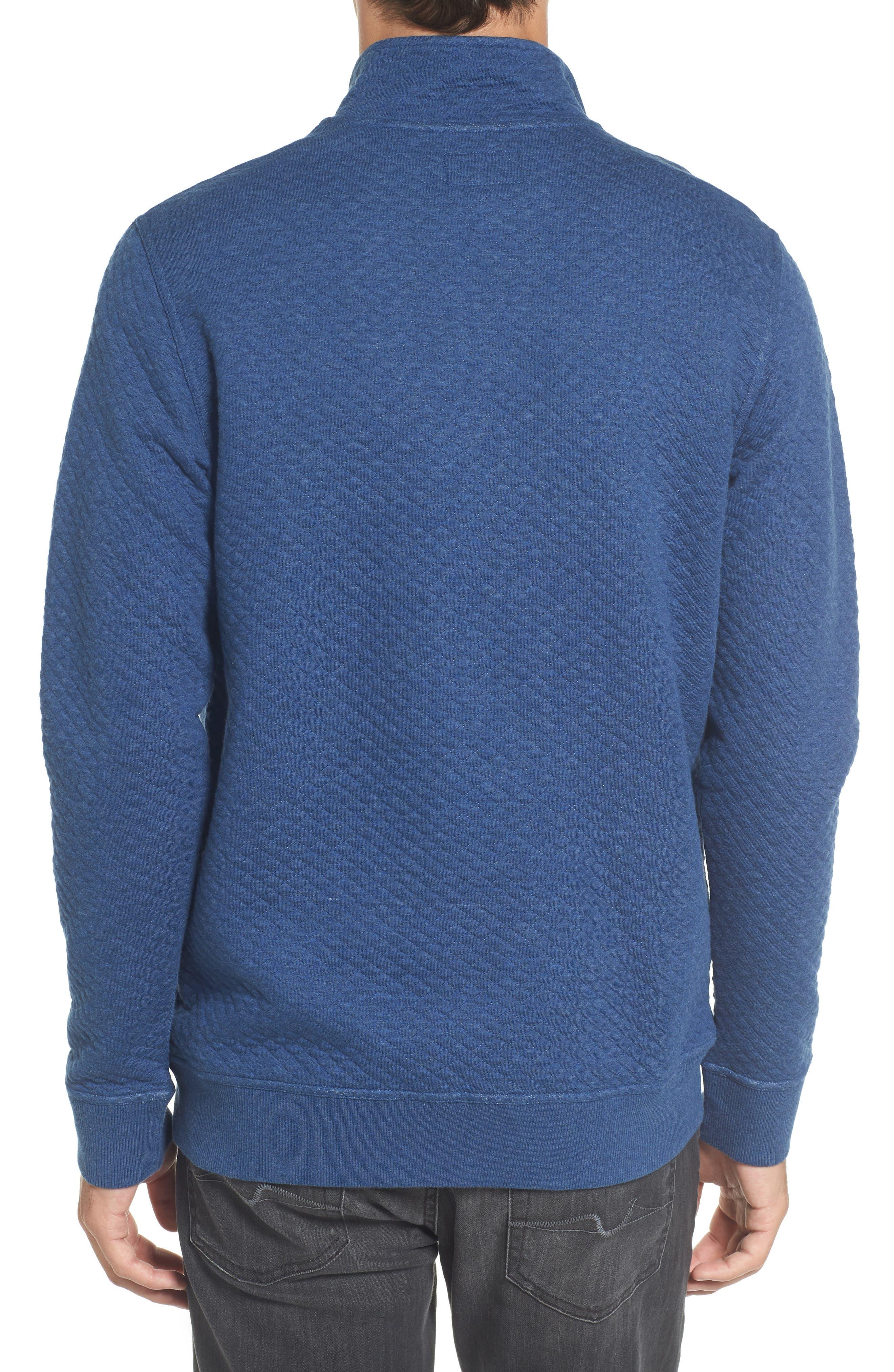 Sundown Quilted Quarter Zip Pullover,                             Alternate thumbnail 2, color,                             Skipper Blue