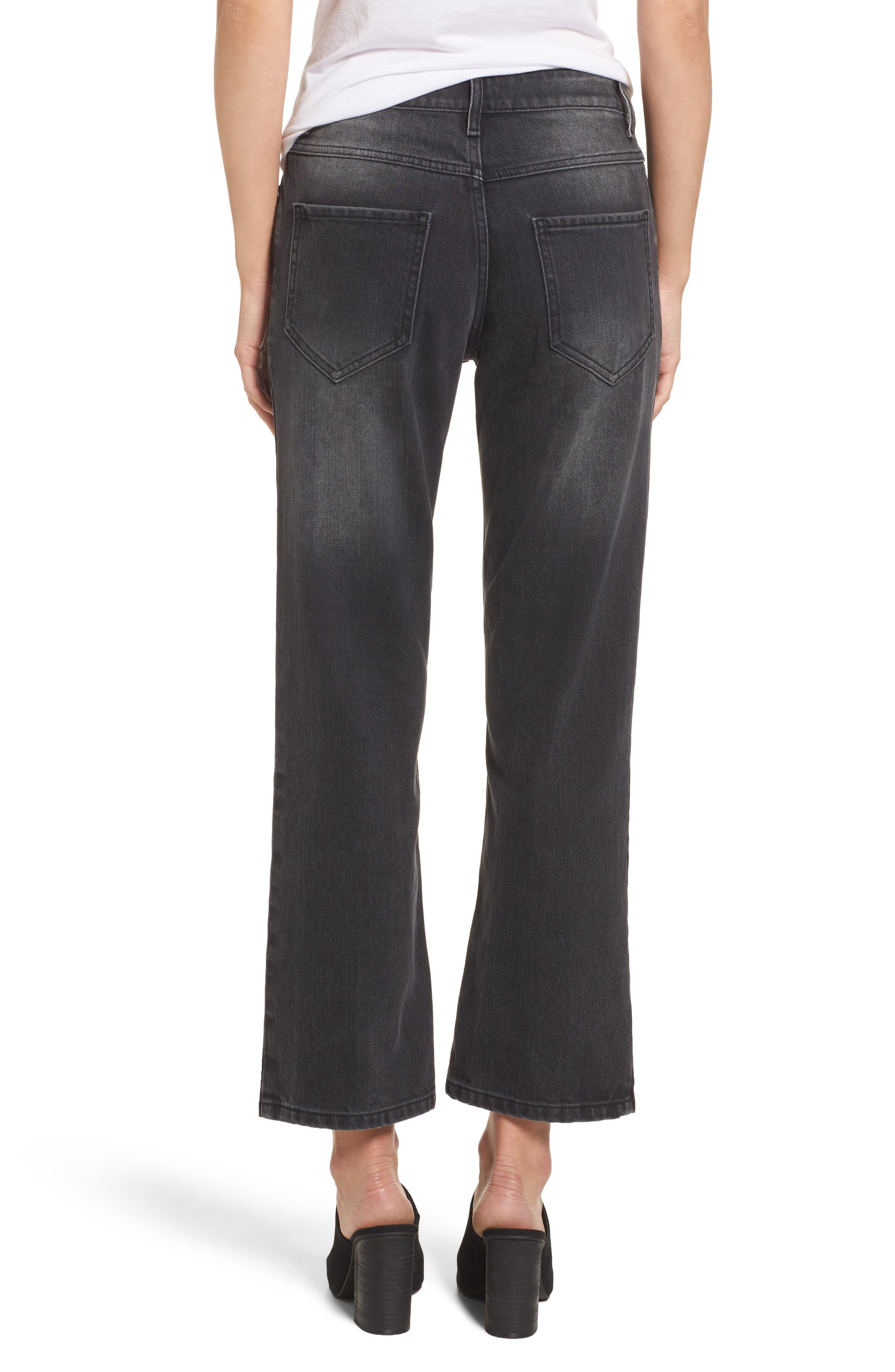 Alternate Image 2  - Sincerely Jules High Waist Crop Flare Jeans (Washed Black)