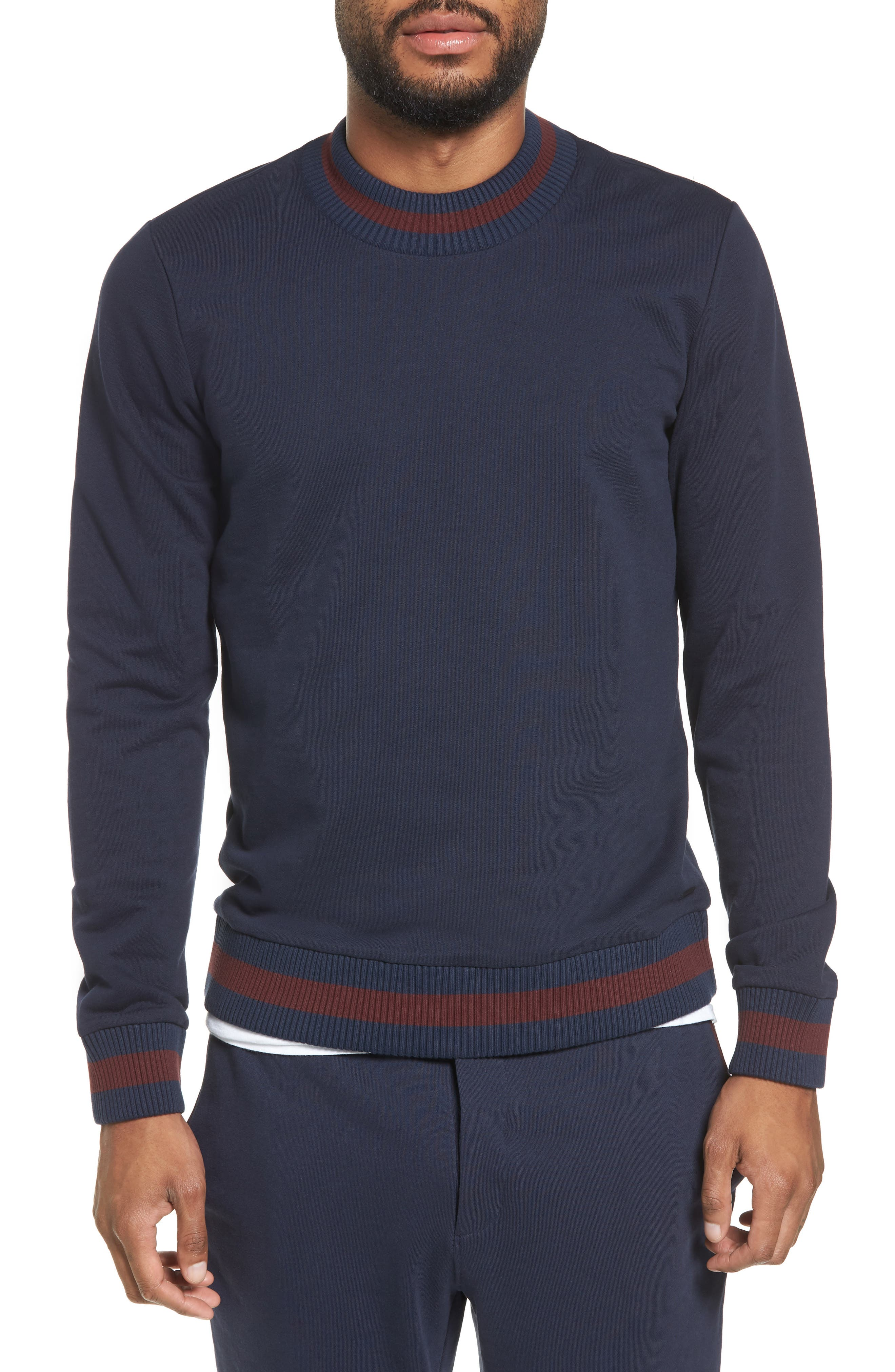 Skubic Slim Crewneck Sweatshirt,                         Main,                         color, Navy