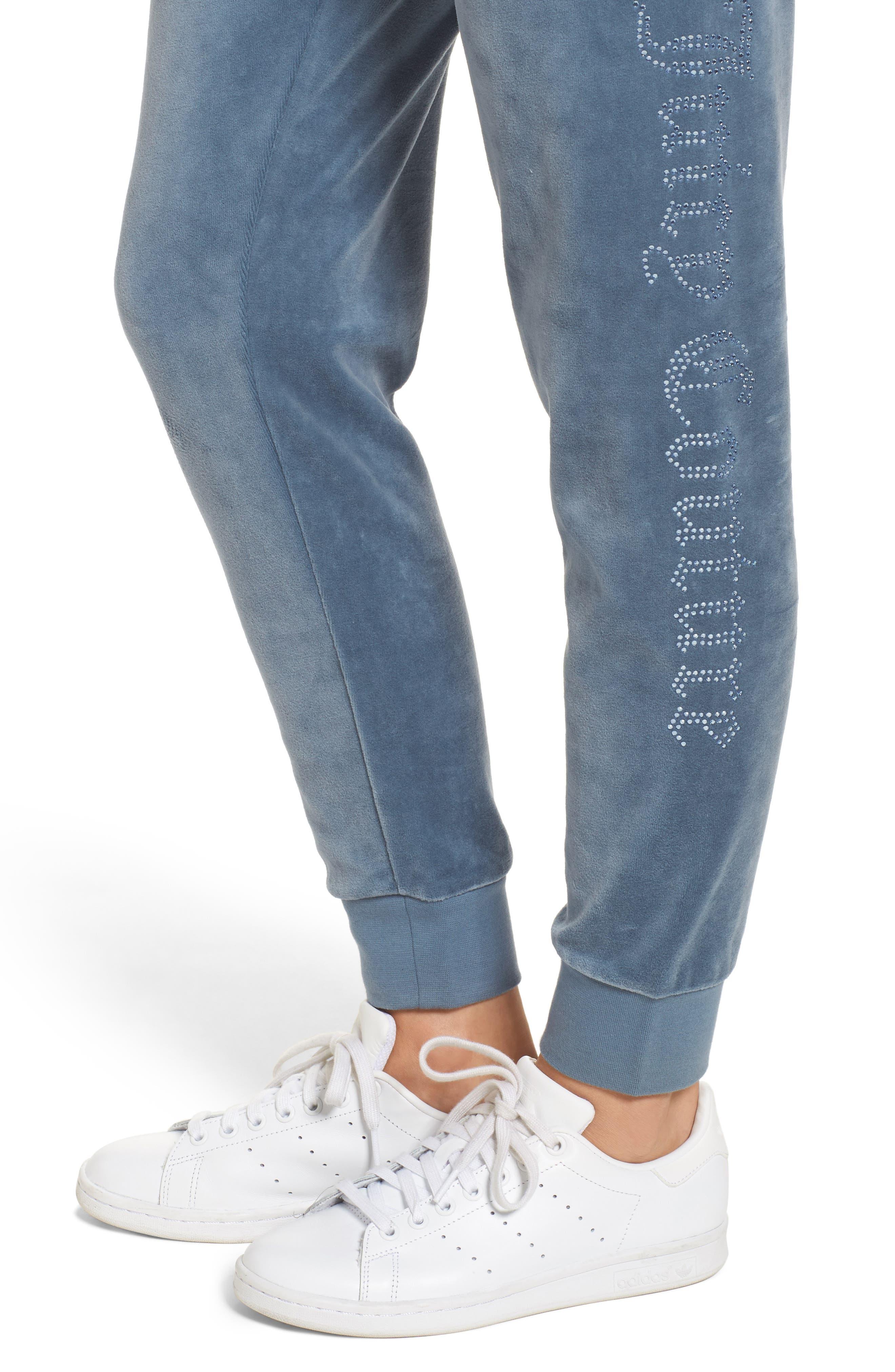 Alternate Image 4  - Juicy Couture Zuma Crystal Velour Pants