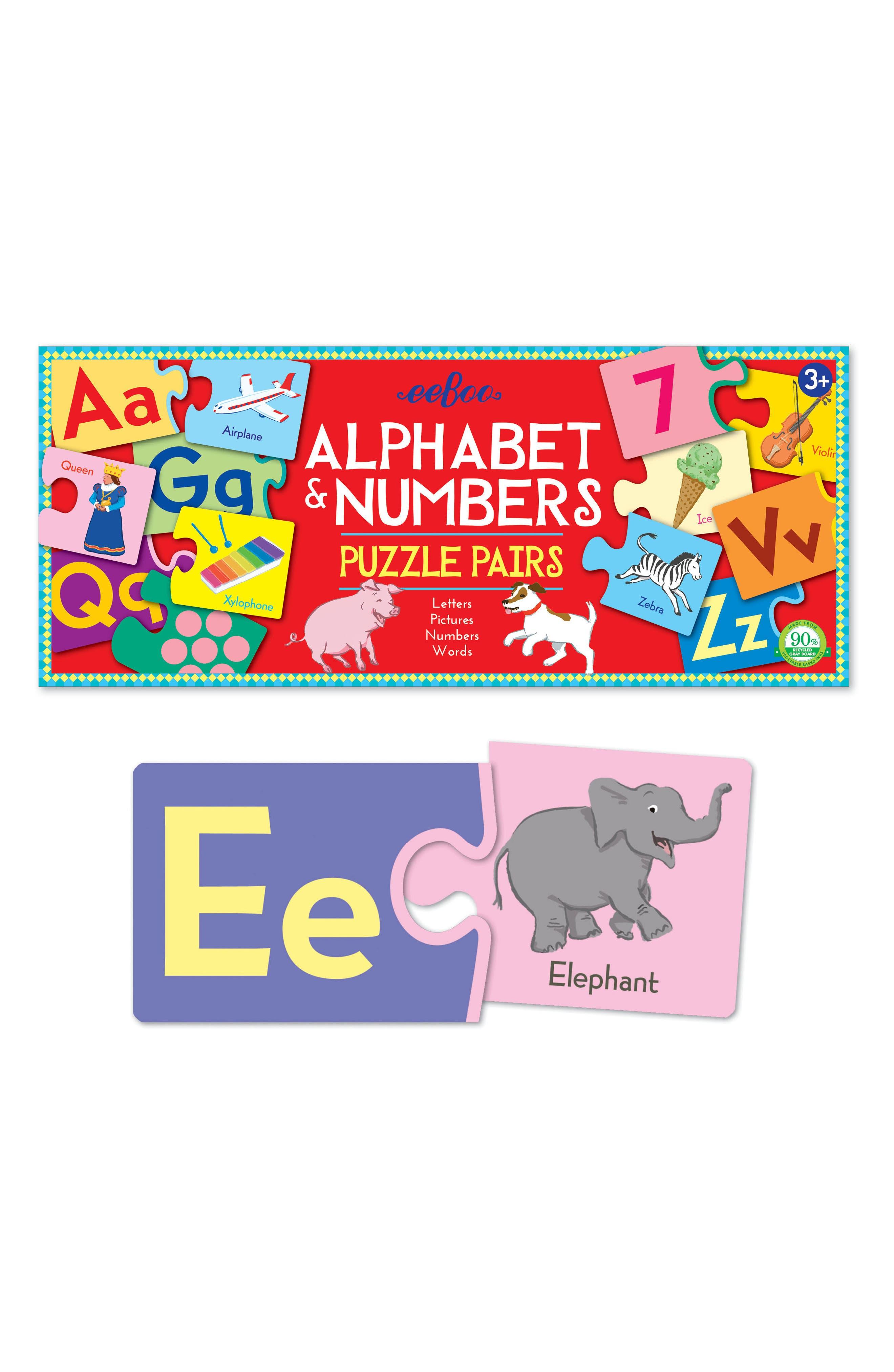 Alphabet & Number Puzzle Pairs,                             Alternate thumbnail 3, color,                             Multi