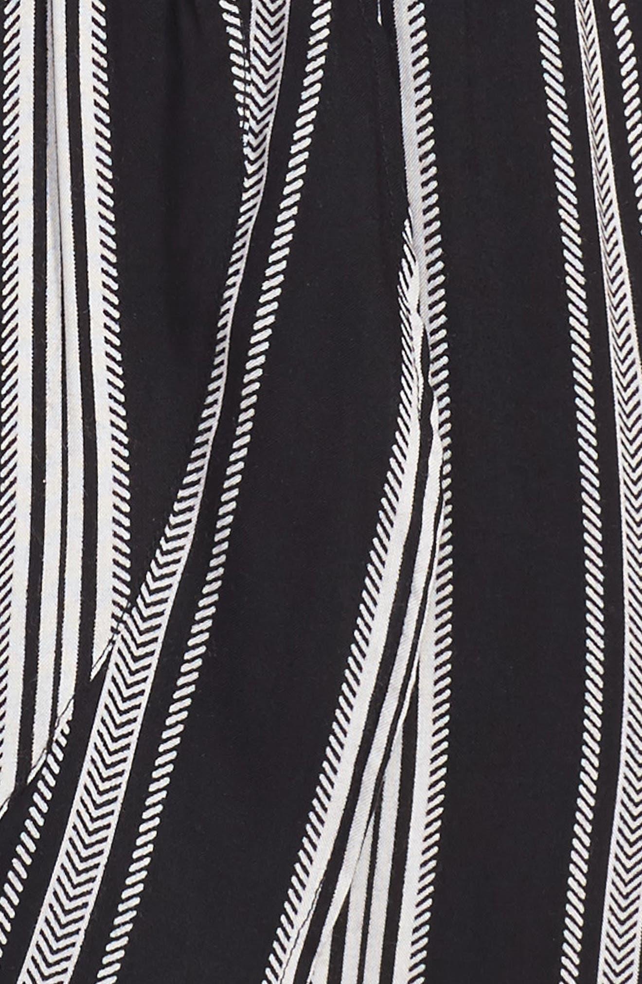 Alternate Image 3  - Zoe and Rose Stripe Flutter Sleeve Dress (Big Girls)