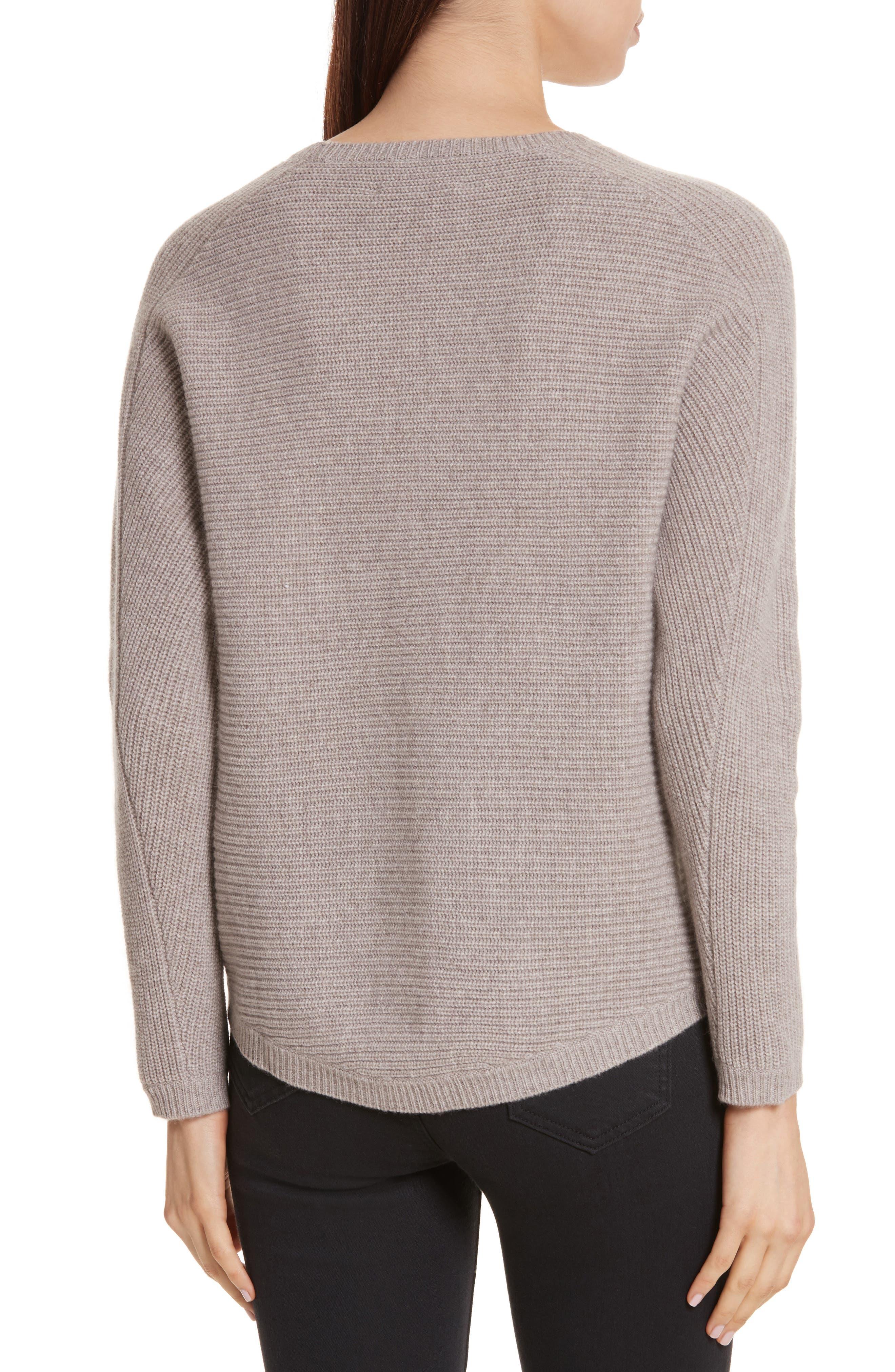 Alternate Image 2  - Allude Merino Wool & Cashmere Braid Detail Sweater
