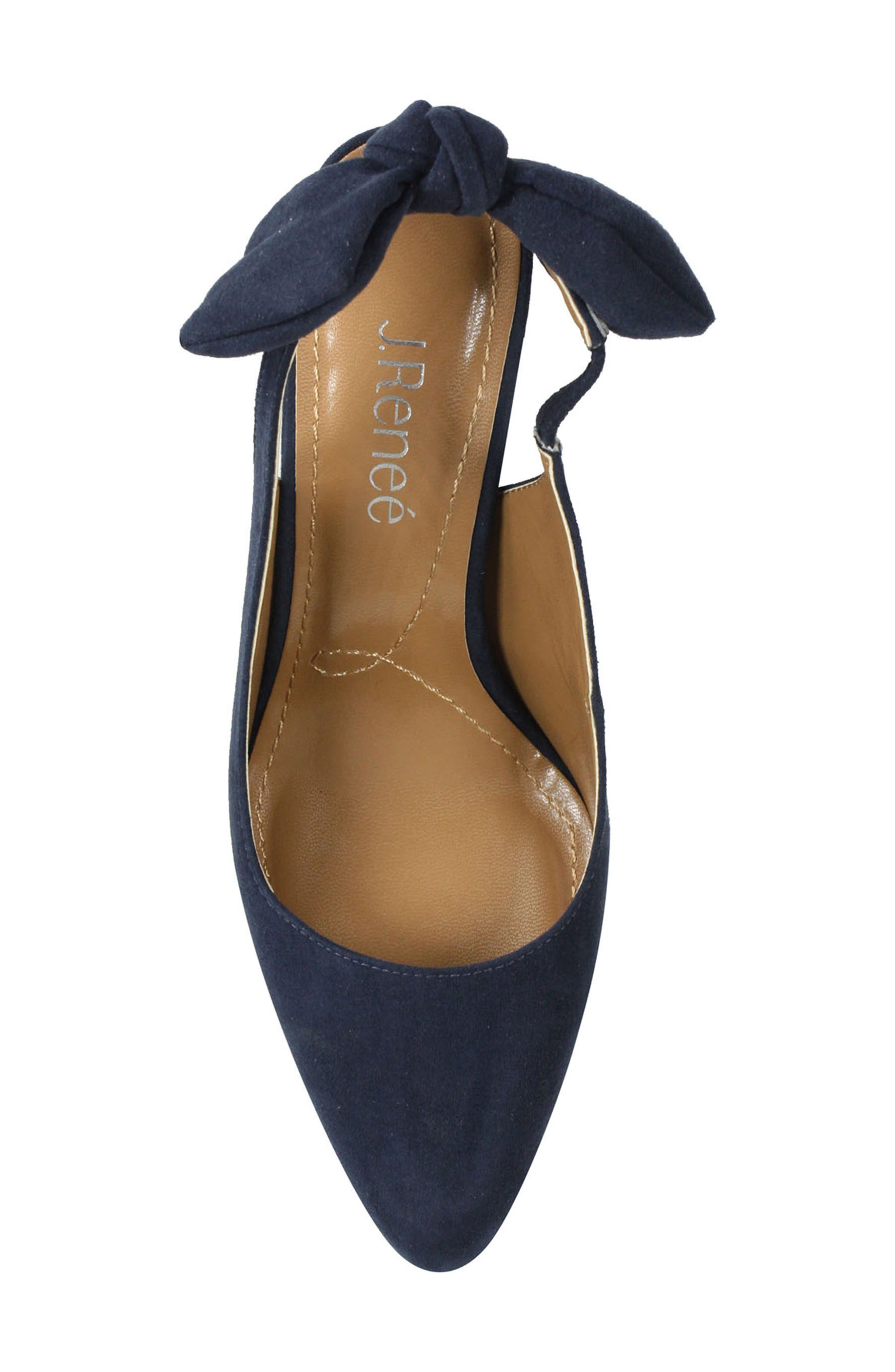 Kennedi Slingback Pump,                             Alternate thumbnail 4, color,                             Navy