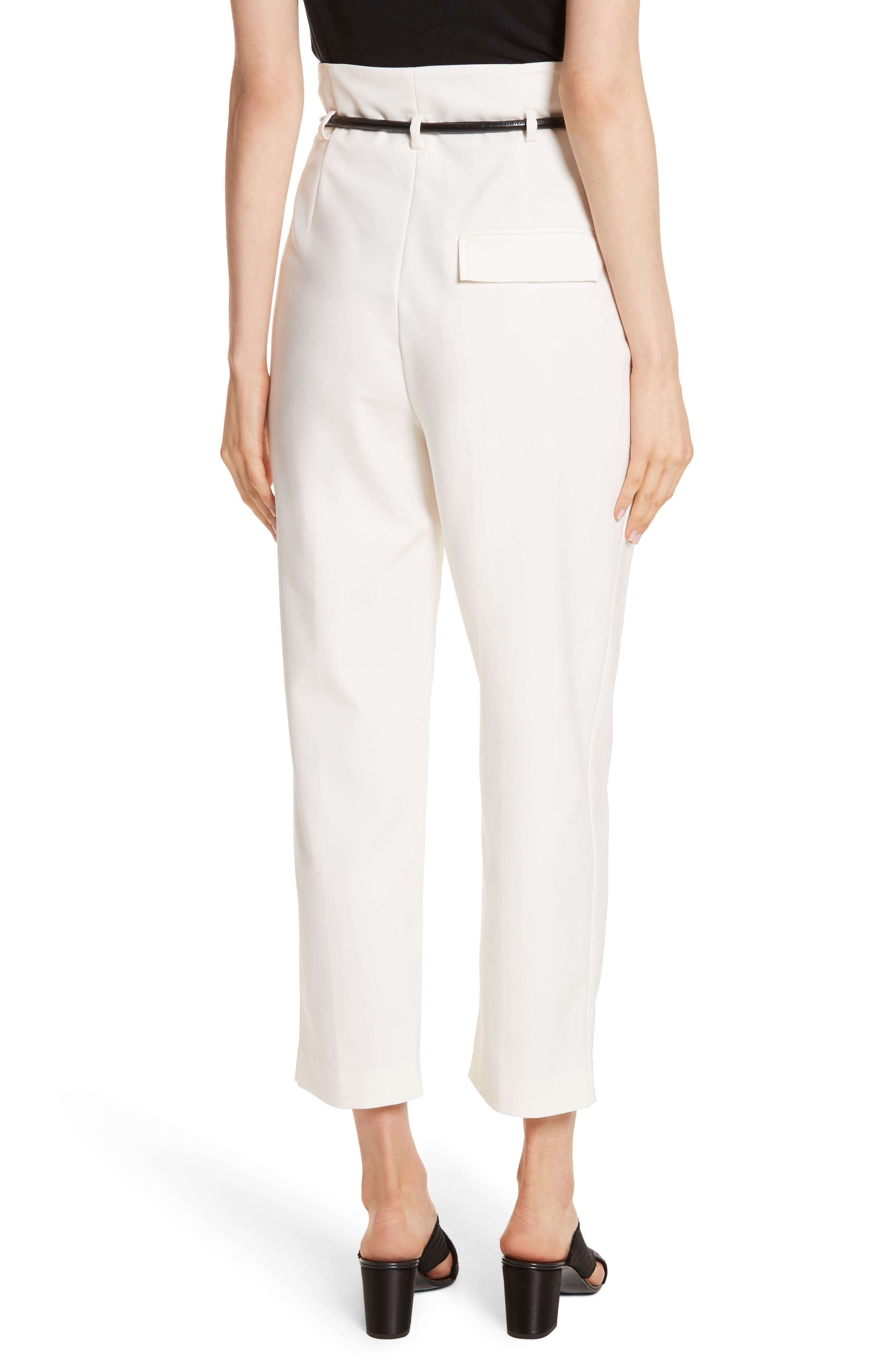 Origami Crop Flare Pants,                             Alternate thumbnail 2, color,                             White