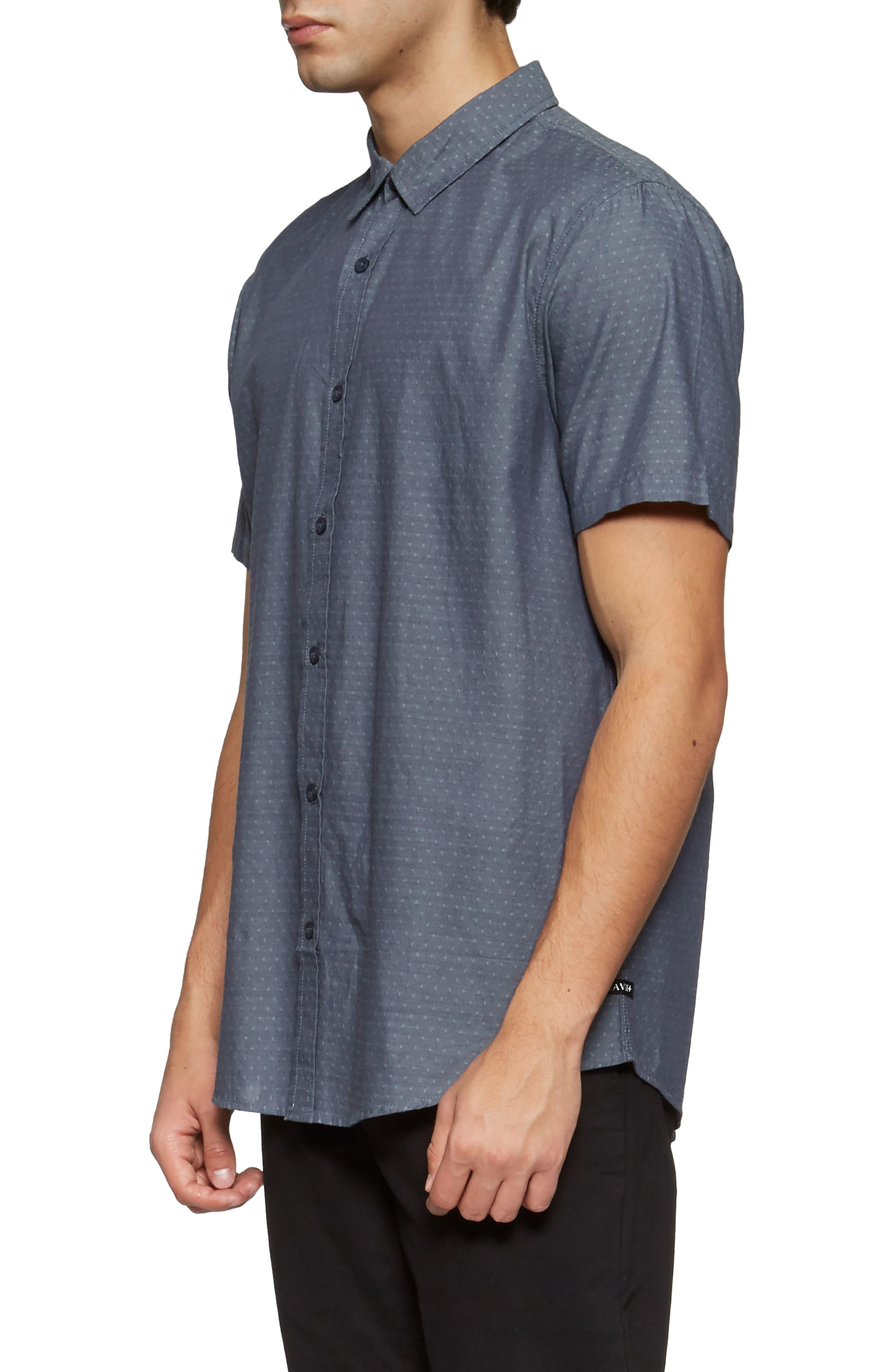 Clarke Woven Shirt,                             Alternate thumbnail 3, color,                             Shadow Blue Link