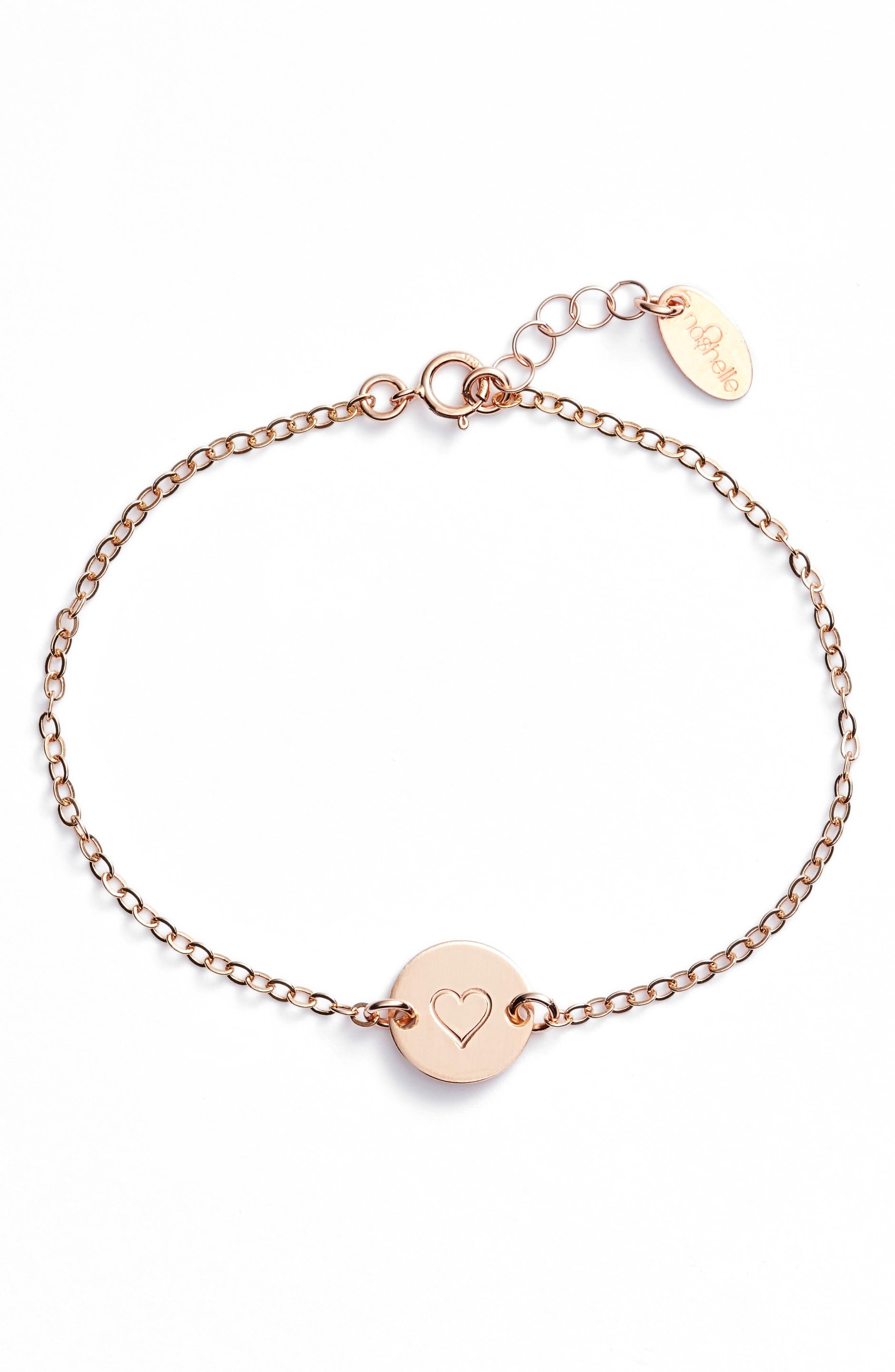 Main Image - Nashelle Mini Coin Bracelet