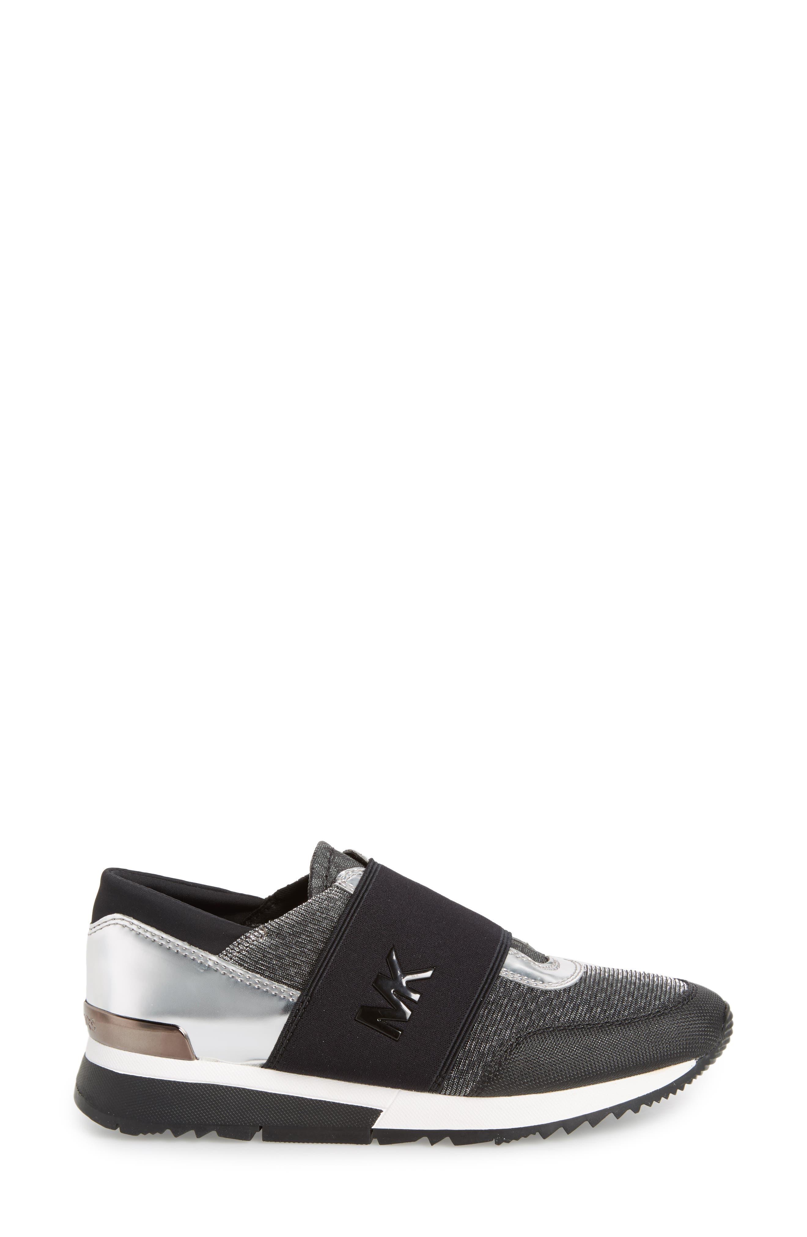 Slip-On Sneaker,                             Alternate thumbnail 3, color,                             Black